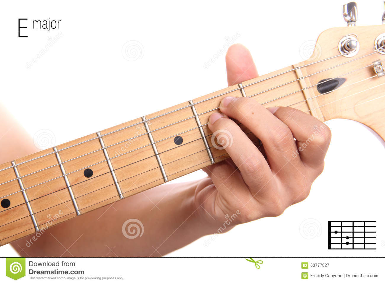 B Major Guitar Chord Tutorial Stock Photo Image Of Music Basic