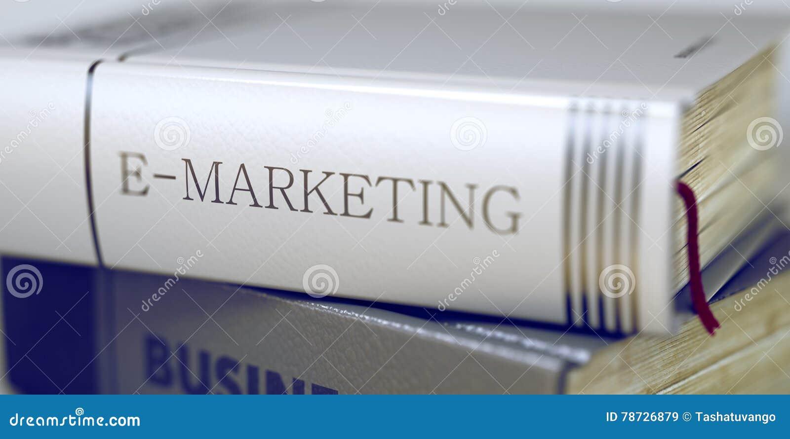 E-marknadsföring begrepp Boktitel 3d