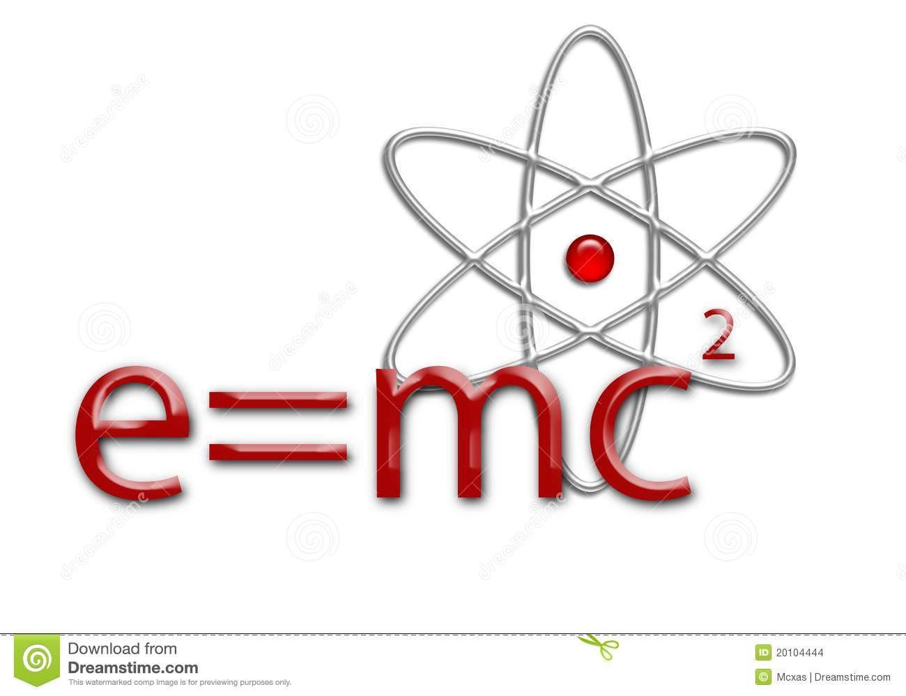 E=mc2 Equation And Atom Stock Images  Image 20104444