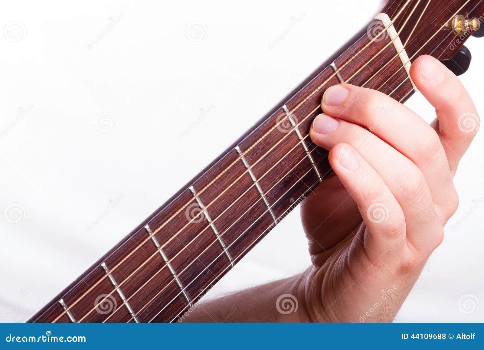 E Minor Chord Stock Photo Image Of Human Body Fingers 44109688