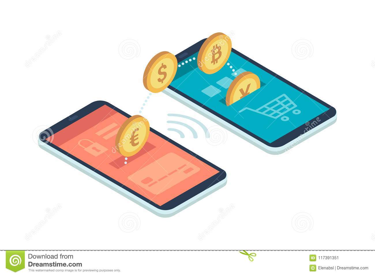 E-payment App On Smartphone Stock Vector - Illustration of