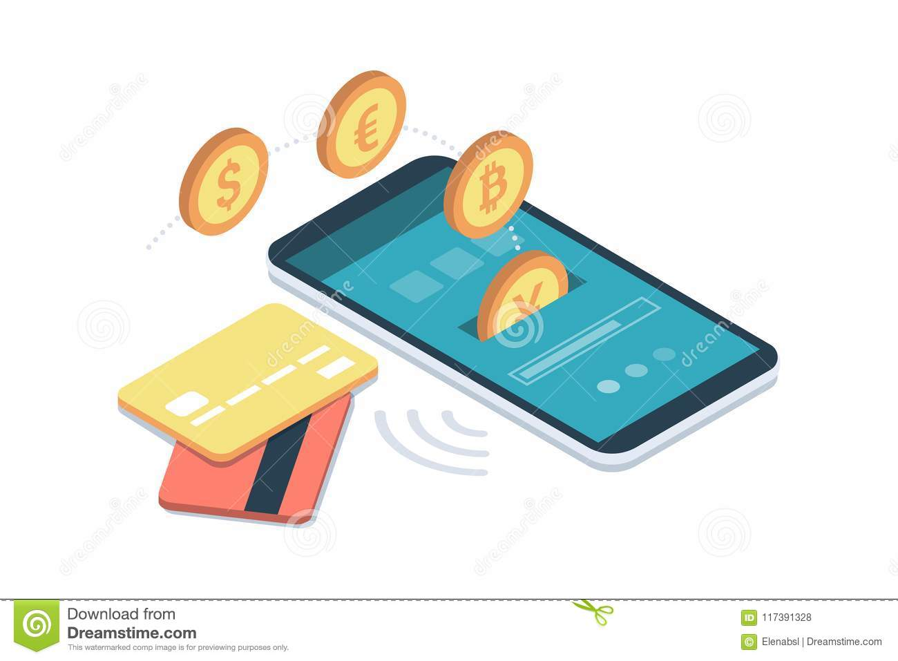 E-payment app on smartphone