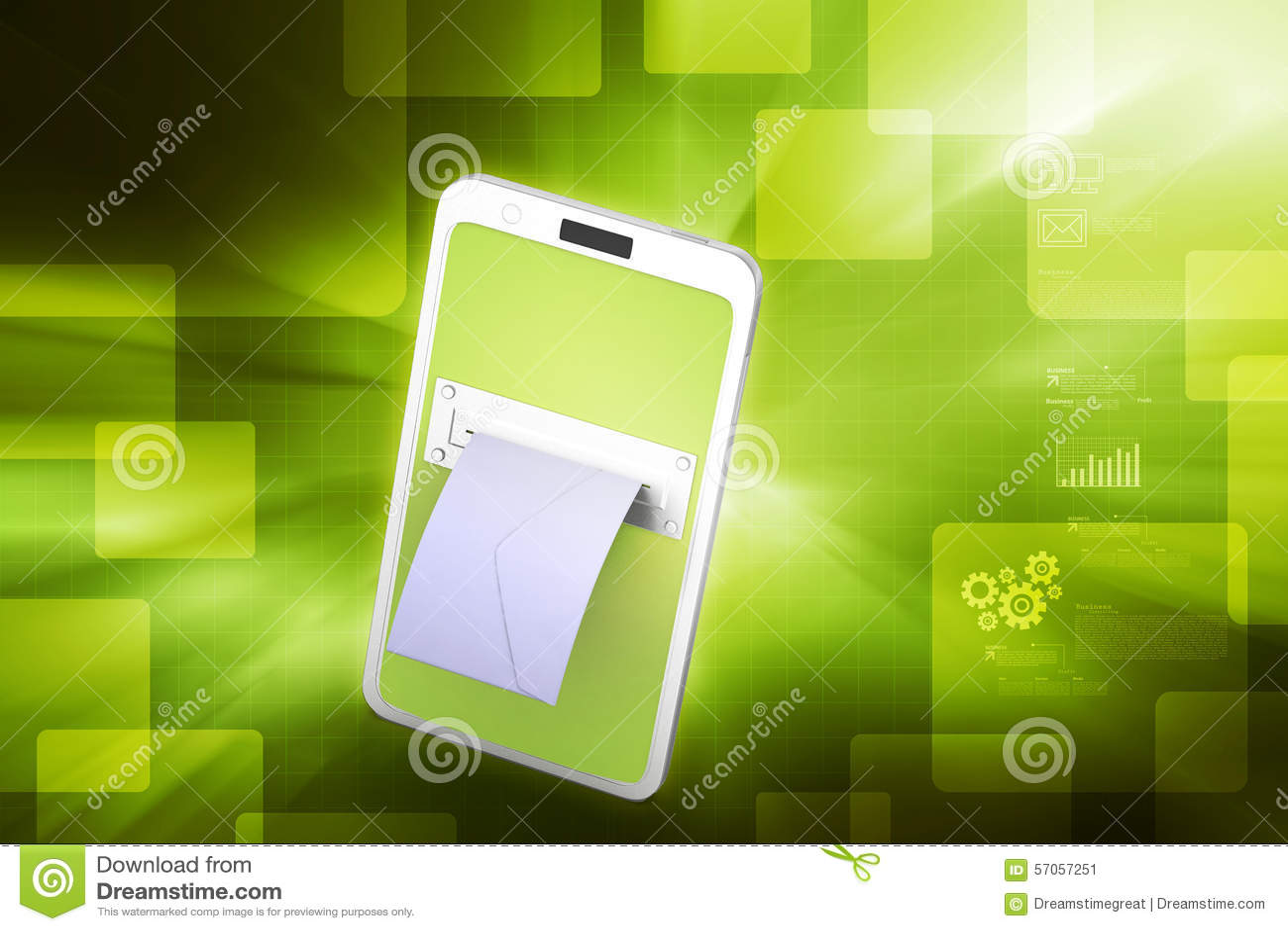 E - post met tabletcomputer