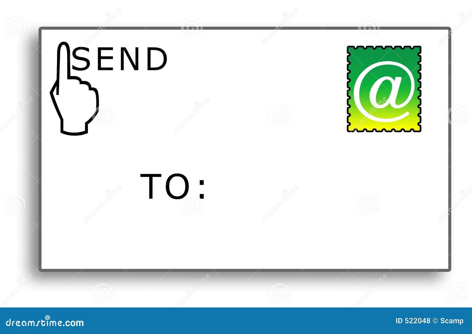 E-postkuvertet överför till