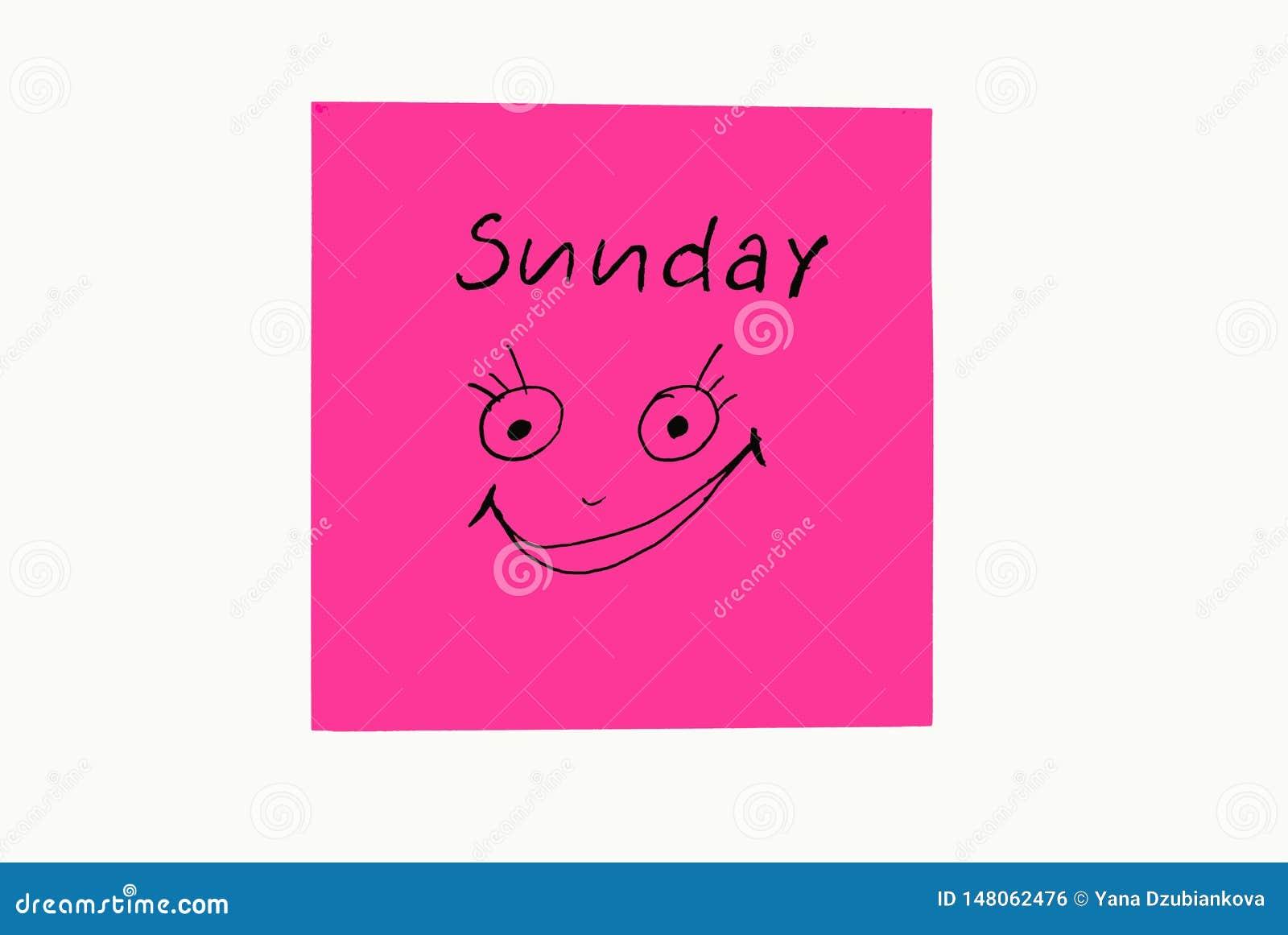 笔记贴纸,提醒每周 带有绘画情感的有趣笔记,反映每周的日子 星期一、星期二