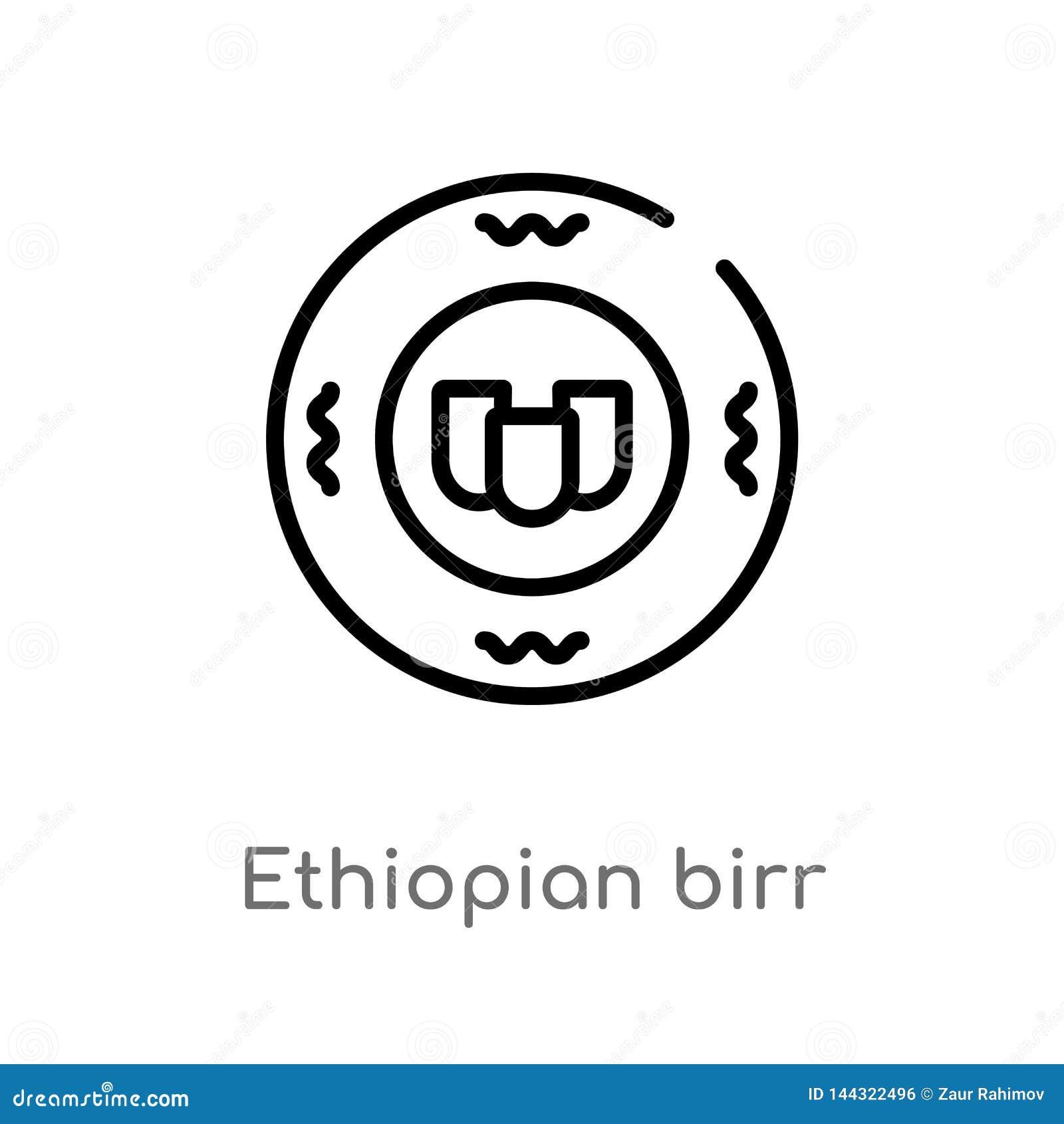 E 被隔绝的黑简单的从非洲概念的线元例证 编辑可能的传染媒介冲程