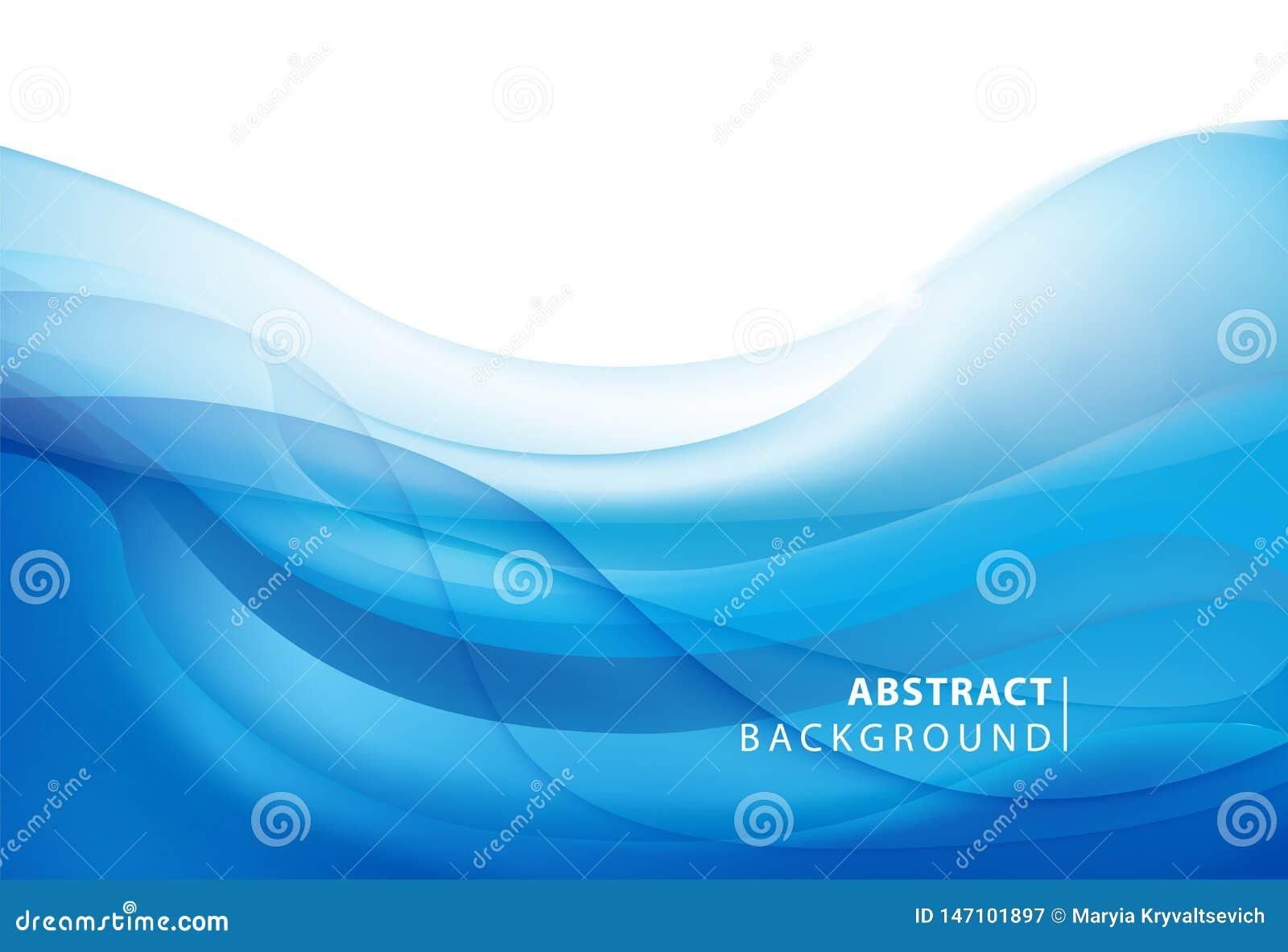 Abstrakter vektorblauer Hintergrund Grafikdesign-Vorlage für Broschüre, Website, App für mobile Geräte, Broschüre Wasser