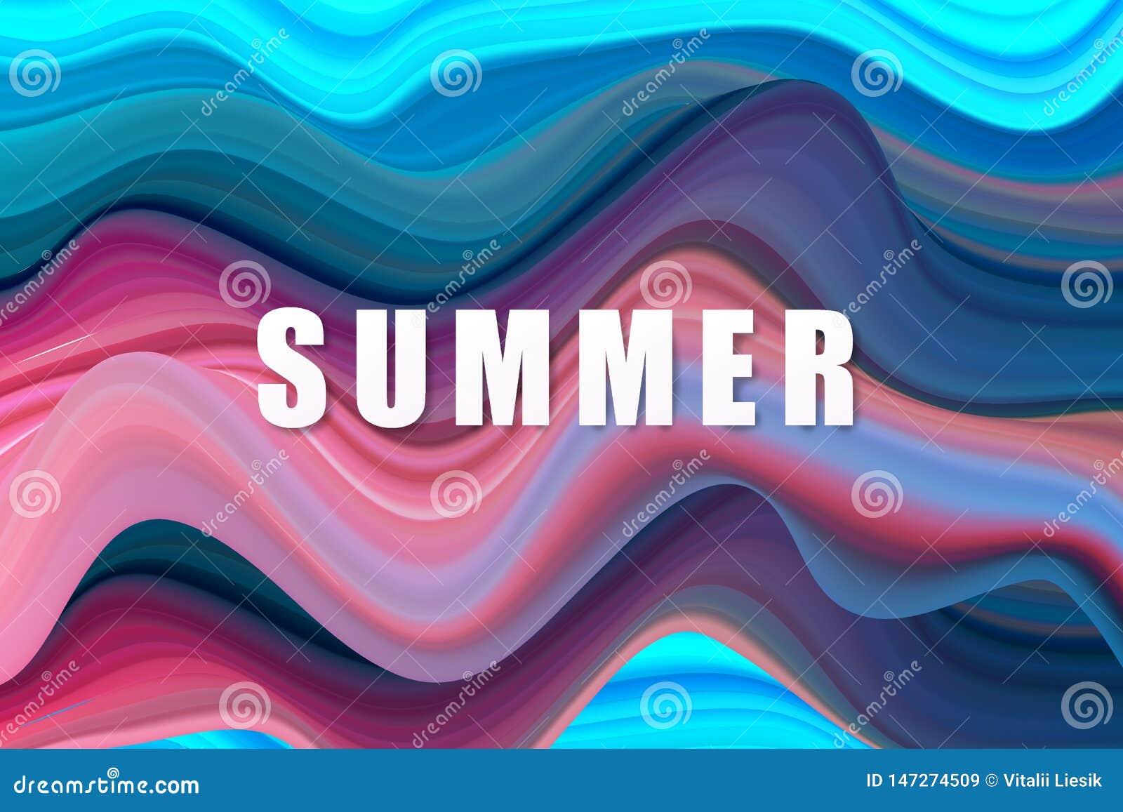 Σύγχρονη πολύχρωμη αφίσα ροής Φόντο χρώματος σχήματος κυματομορφής υγρού Σχεδίαση γραφικών για το σχέδιο σας Εικόνα διανύσματος