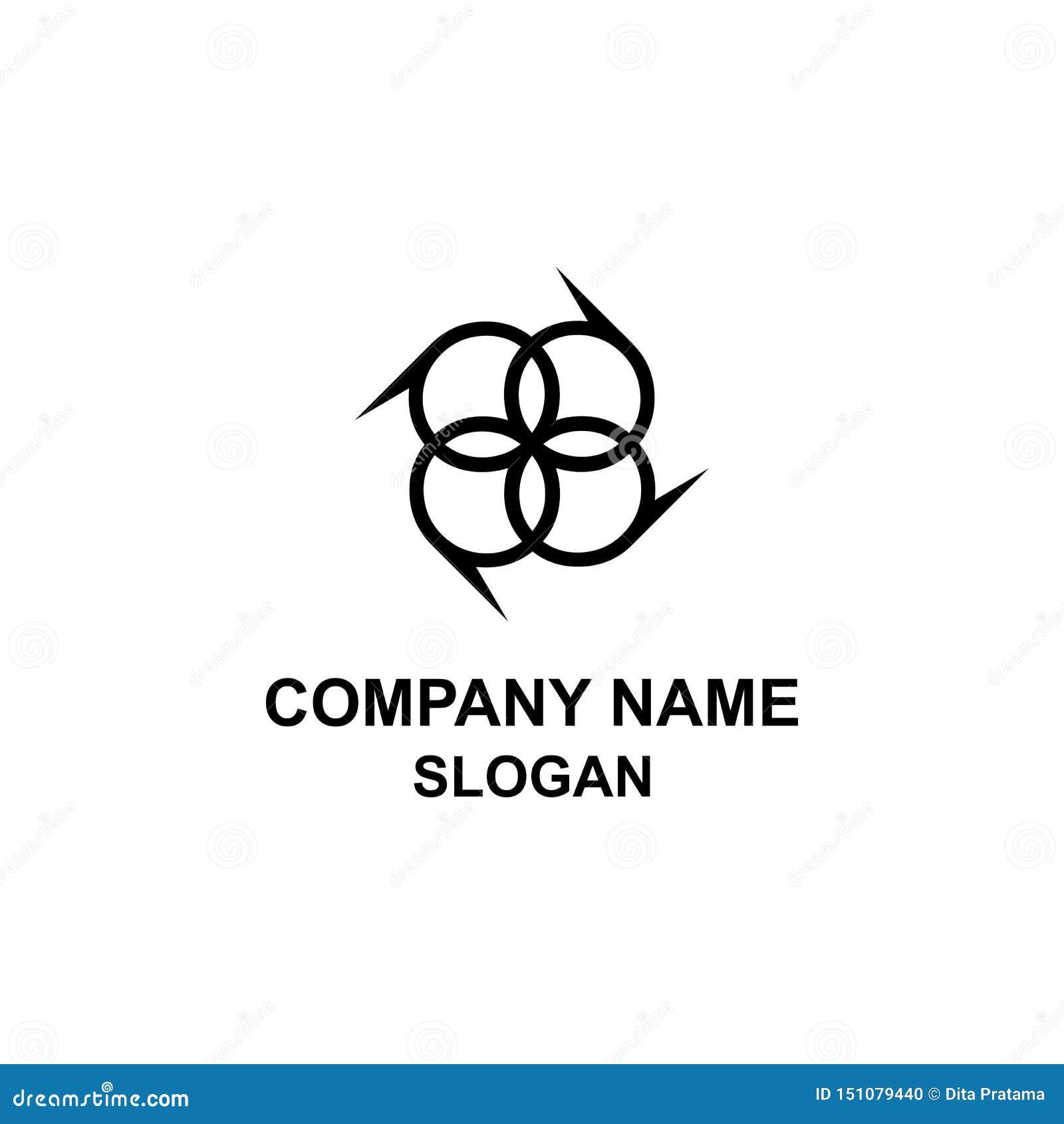 Logotipo da inicial da letra de P