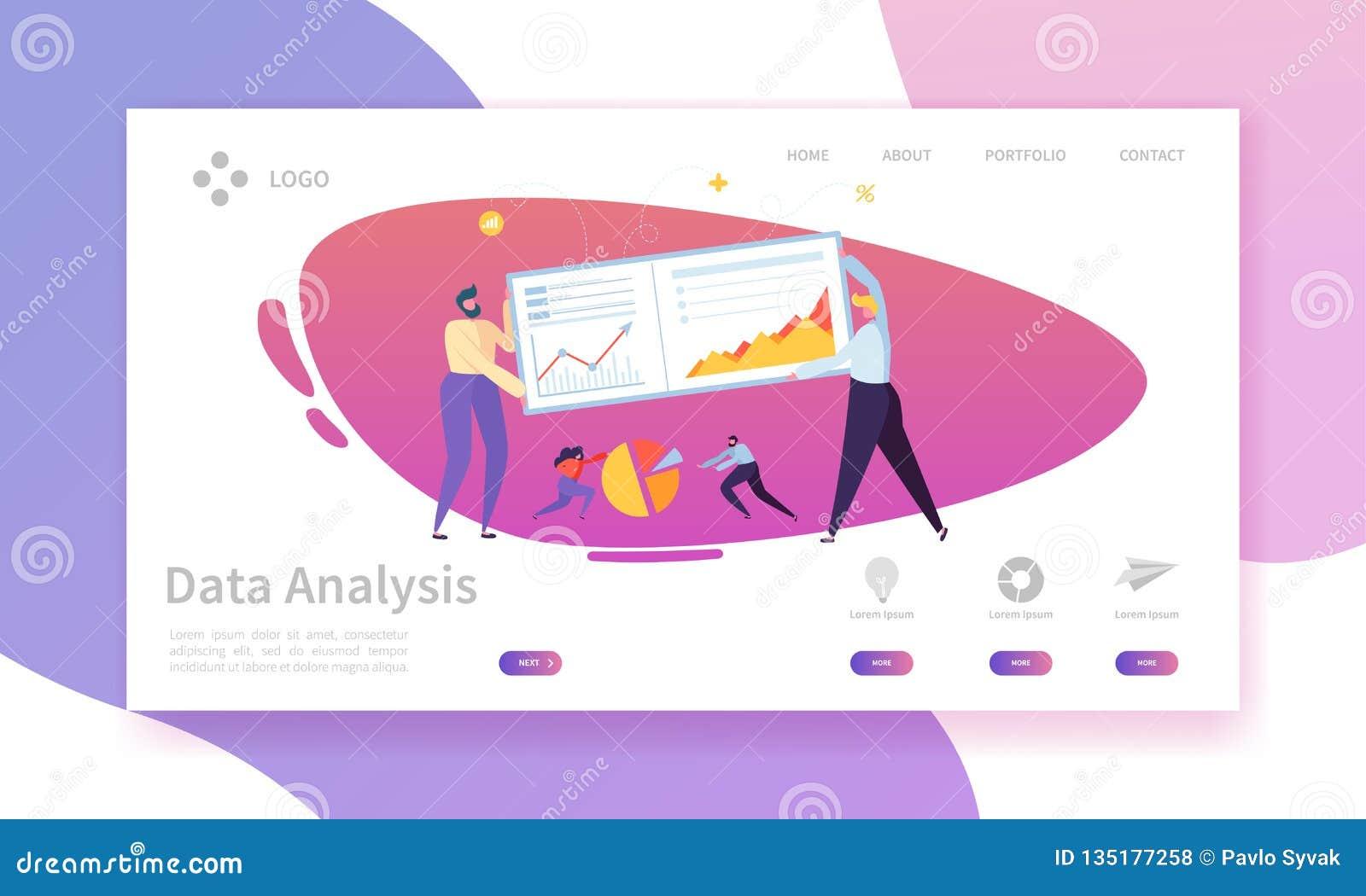 Digital Marketing Analysis Report Landing Page Geschäftsstrategie Analyse des Fortschritts nach Zeichen Analytik