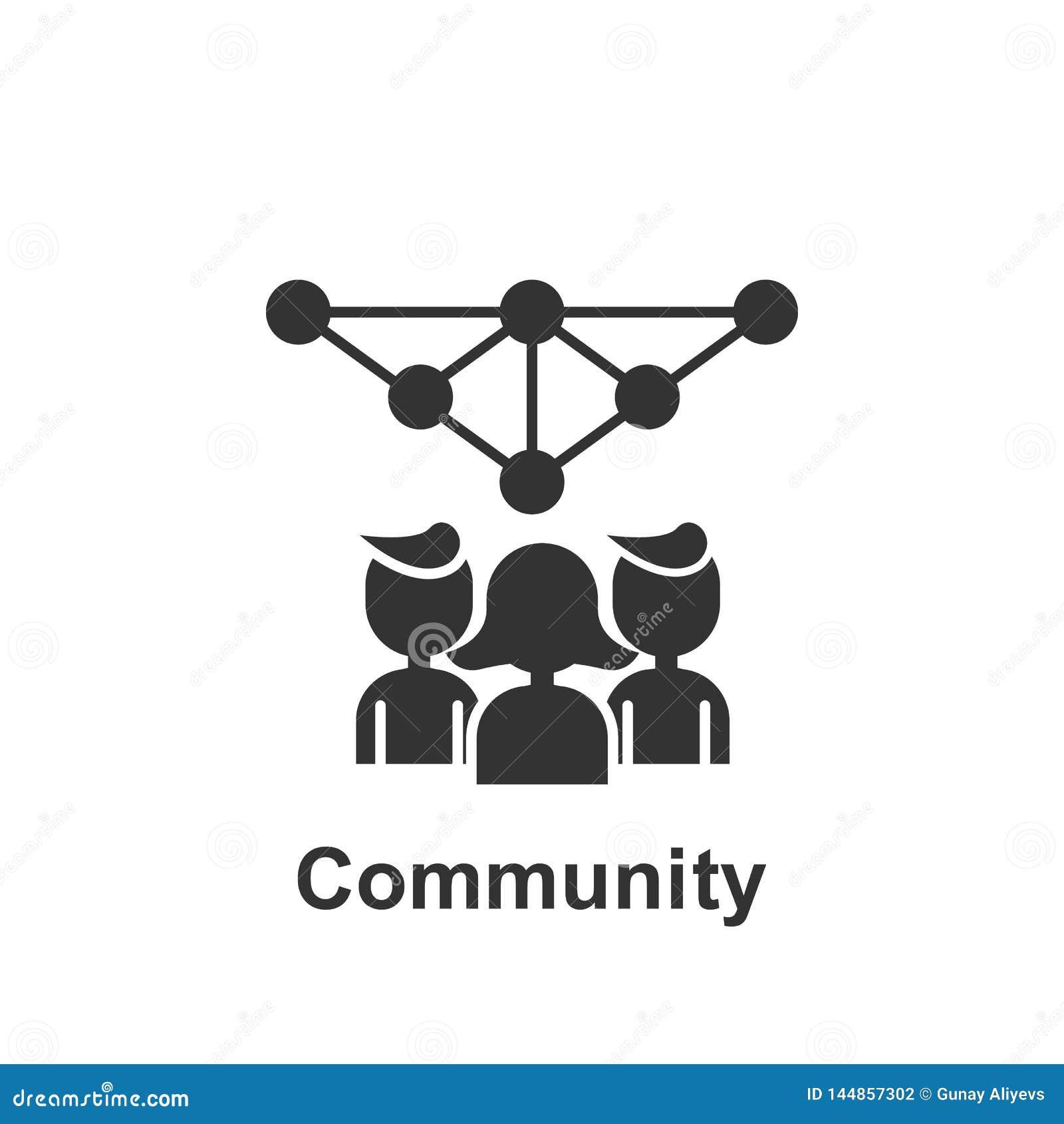 Marketing online, ícone da comunidade Elemento do ícone de marketing online Ícone de design gráfico de qualidade Premium Sinais e