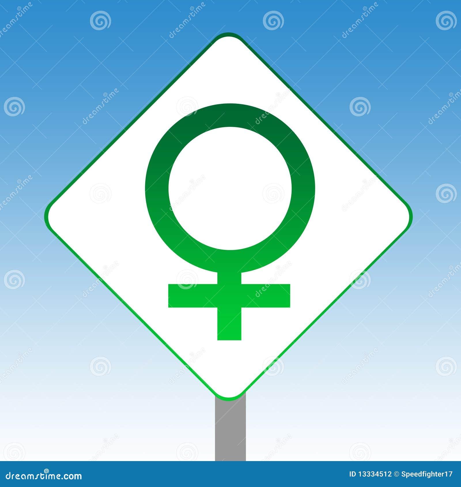 żeński rodzaju znaka symbol