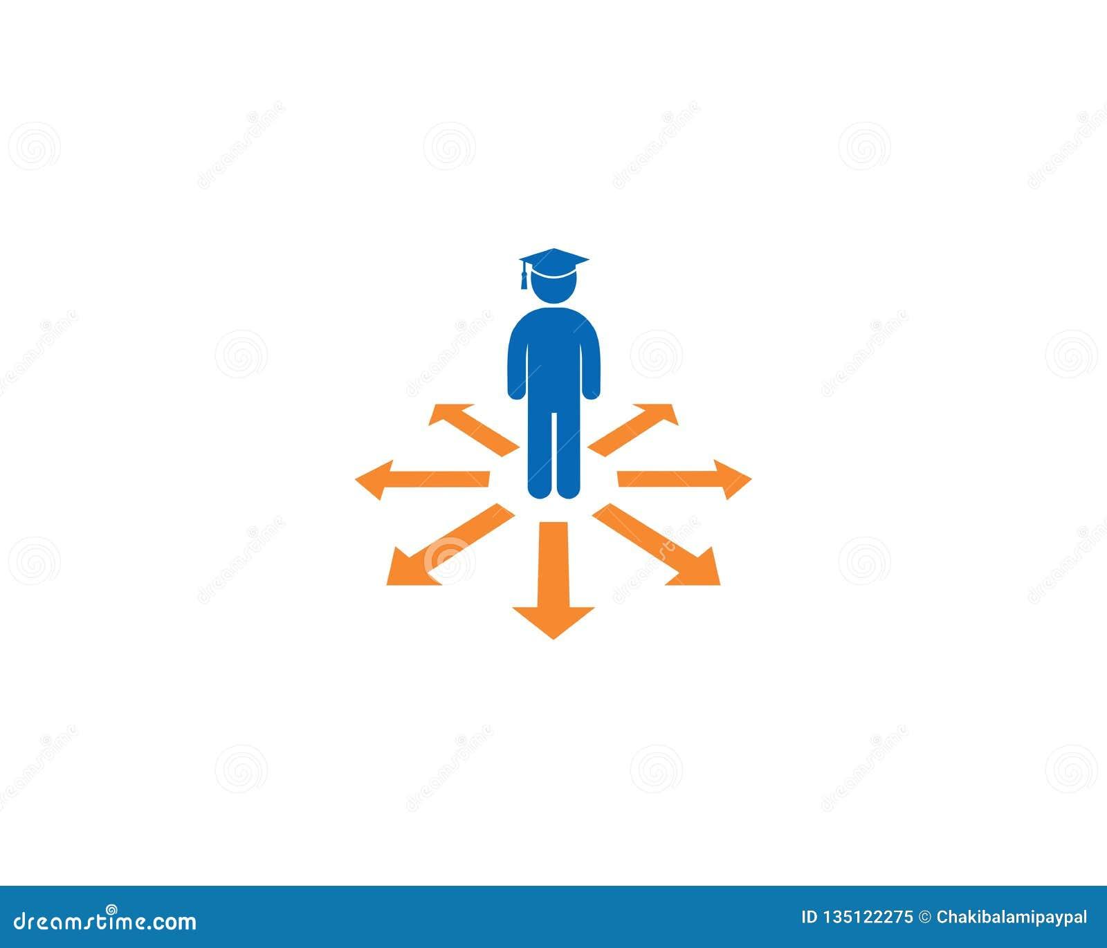 E E Symbole d éducation de conception simple