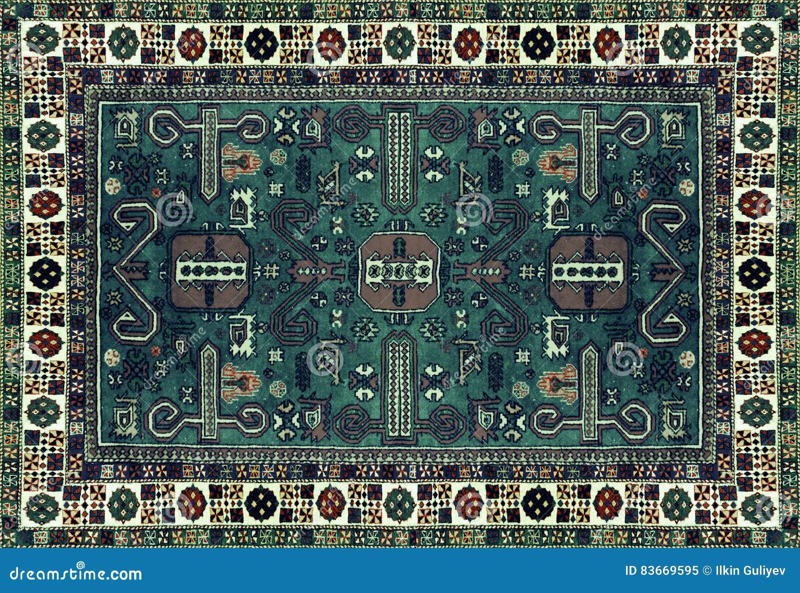 E Teste padrão redondo da mandala, superfície tradicional oriental do tapete Marrom vermelho verde o de turquesa