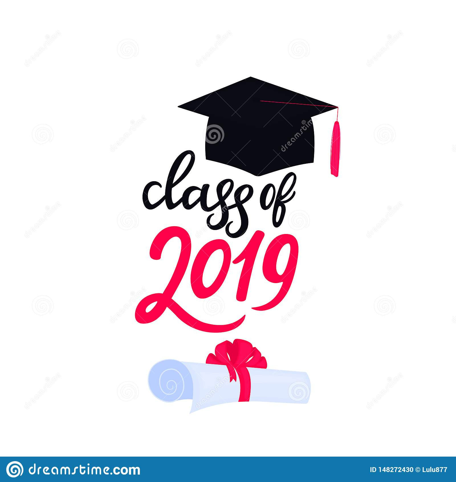 E Universitetavl?ggande av examenlock Grupp av dragen hand 2019 märka snirkeln som binds med a
