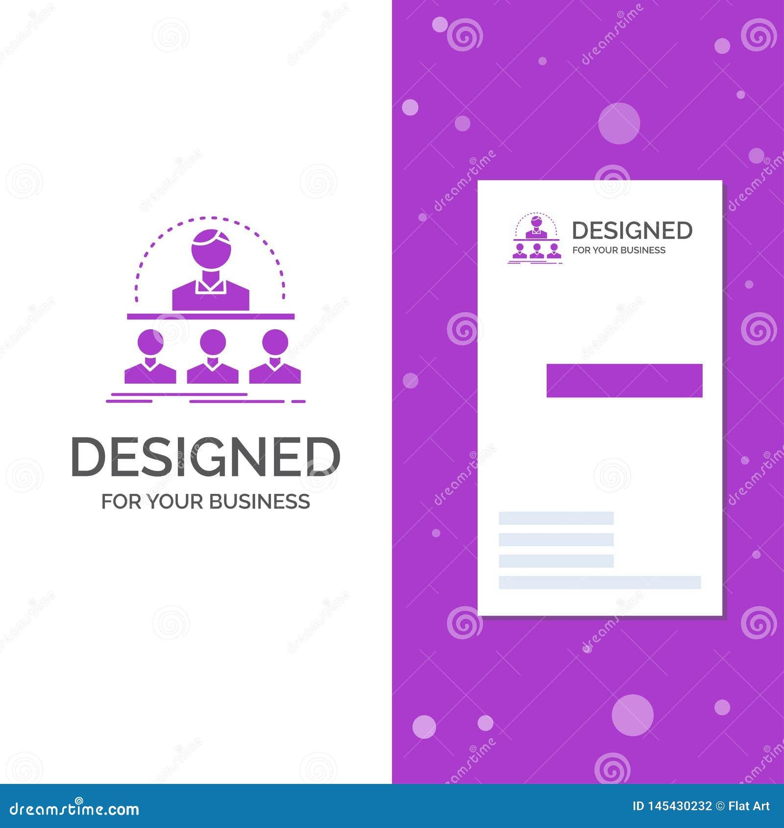E Verticaal Purper Bedrijfs/Visitekaartjemalplaatje creatief