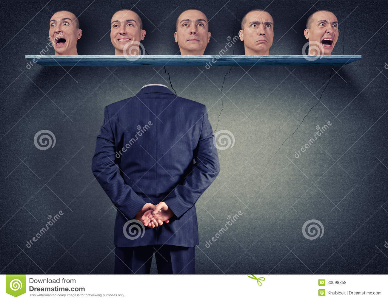 Head selection stock photo. Image of transformation, suit - 30098858