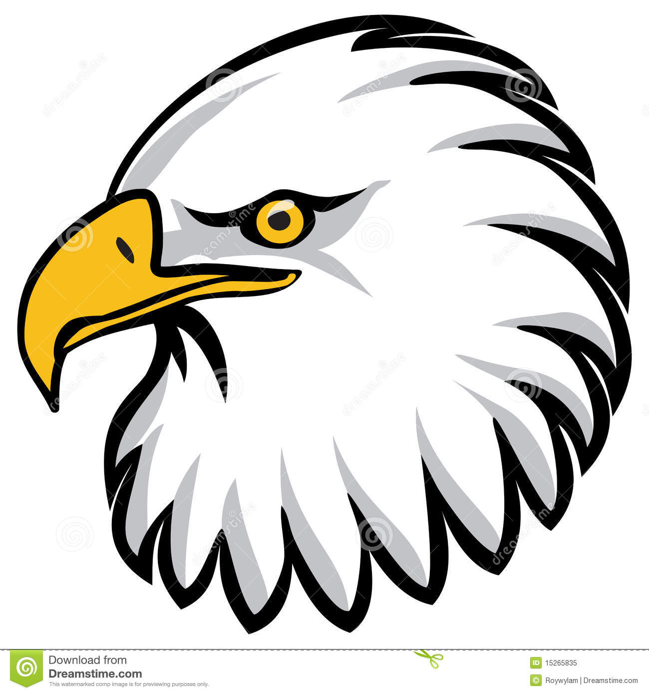 Eagle Head Clip Art Free Eagle's head drawn in a