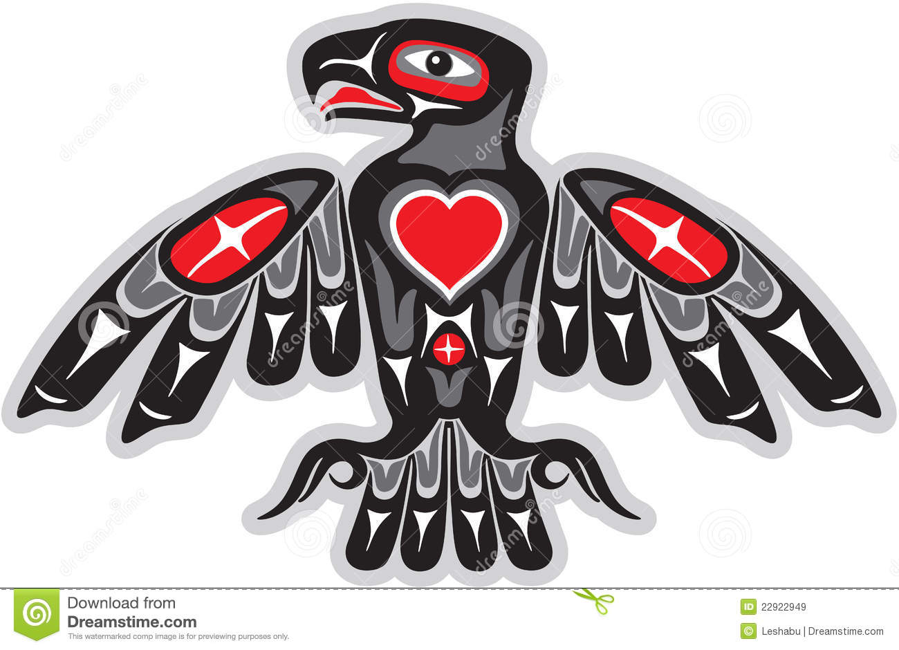 Native American Thunderbird Eagle in American Native Art