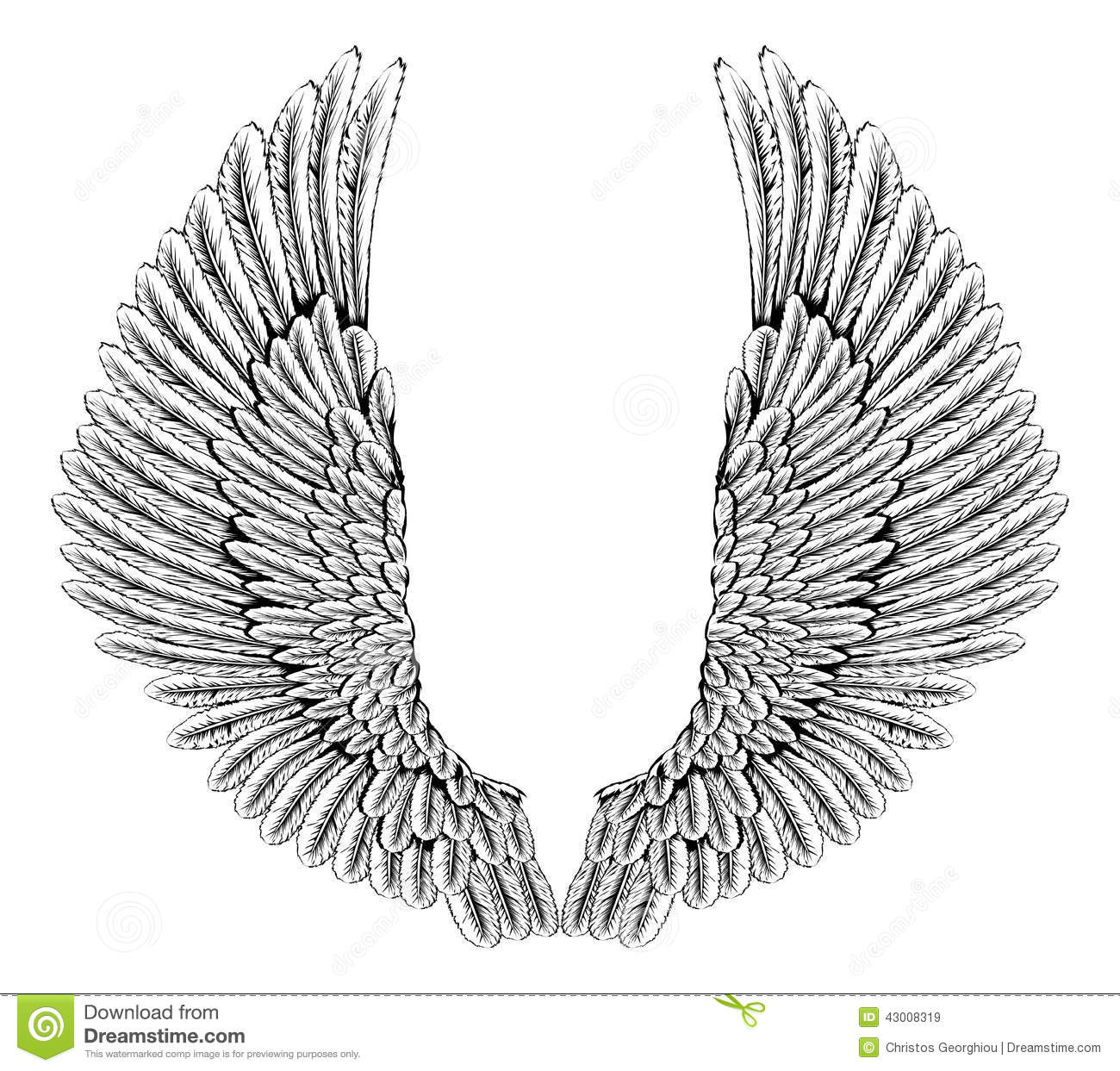 Eagle or angel wings Royalty  Eagle Wings Clipart