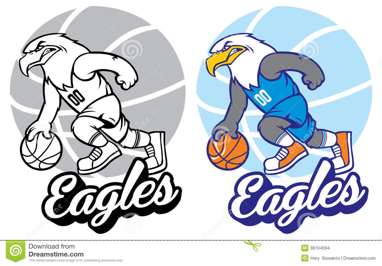 Eagle Basketball Mascot Stock Images - Image: 36104594