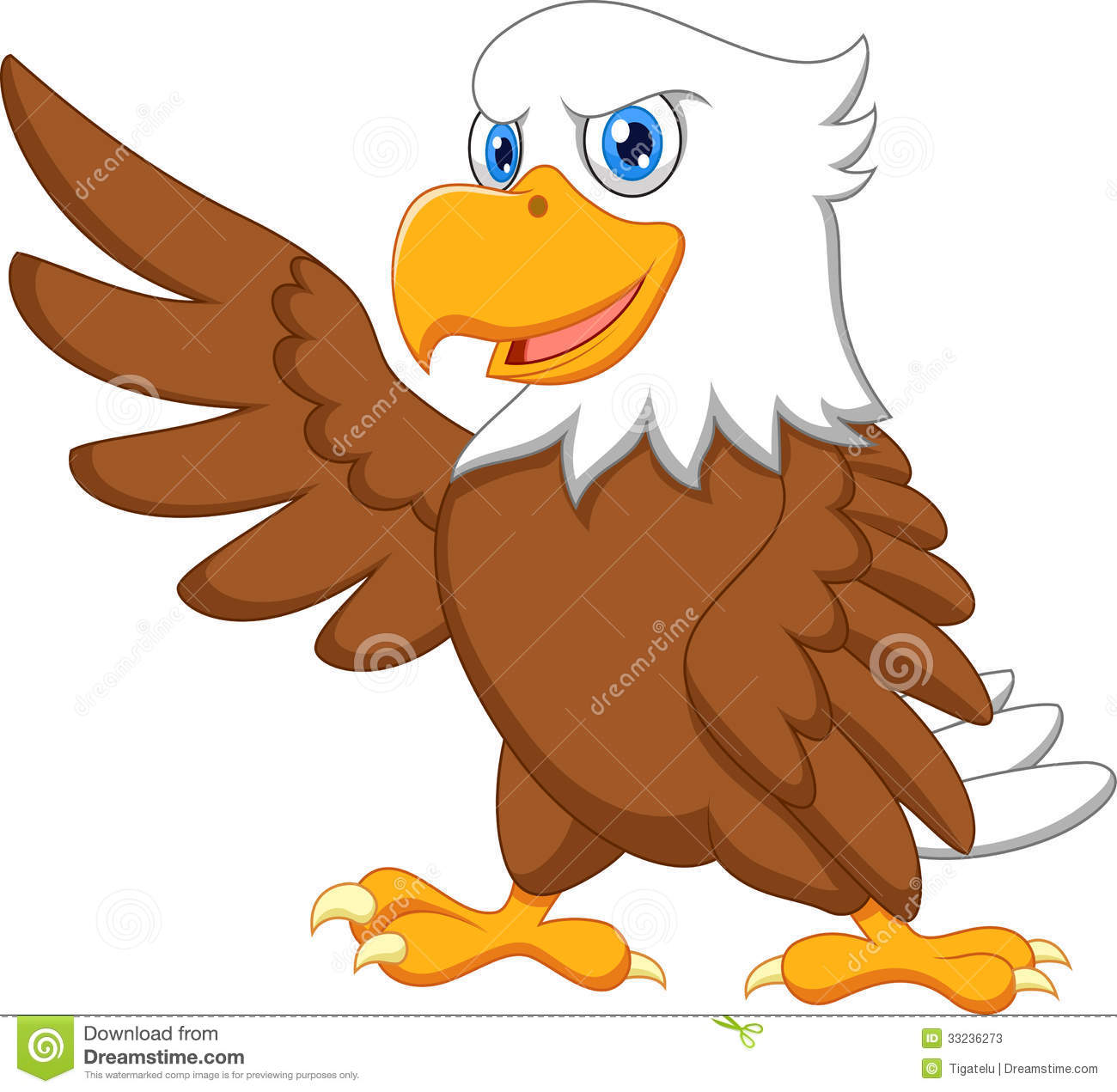 eagle cartoon stock vector illustration of bald character 43490838 rh dreamstime com cartoon eagle pictures free cartoon beagle pictures