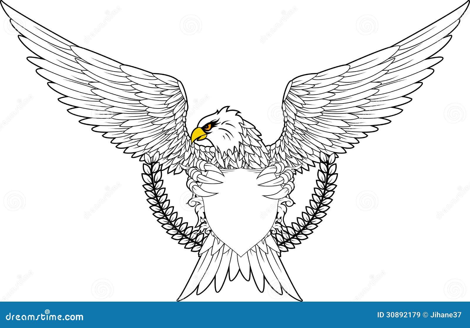 Eagle Con El Escudo Para Usted Diseo Imgenes De Archivo Libres Regalas Imagen 30892179