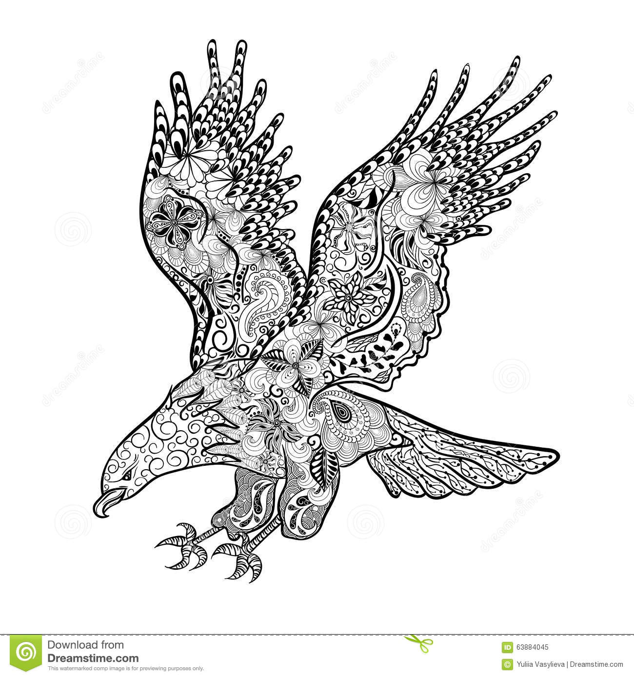 Eagle Doodle Stock Vector