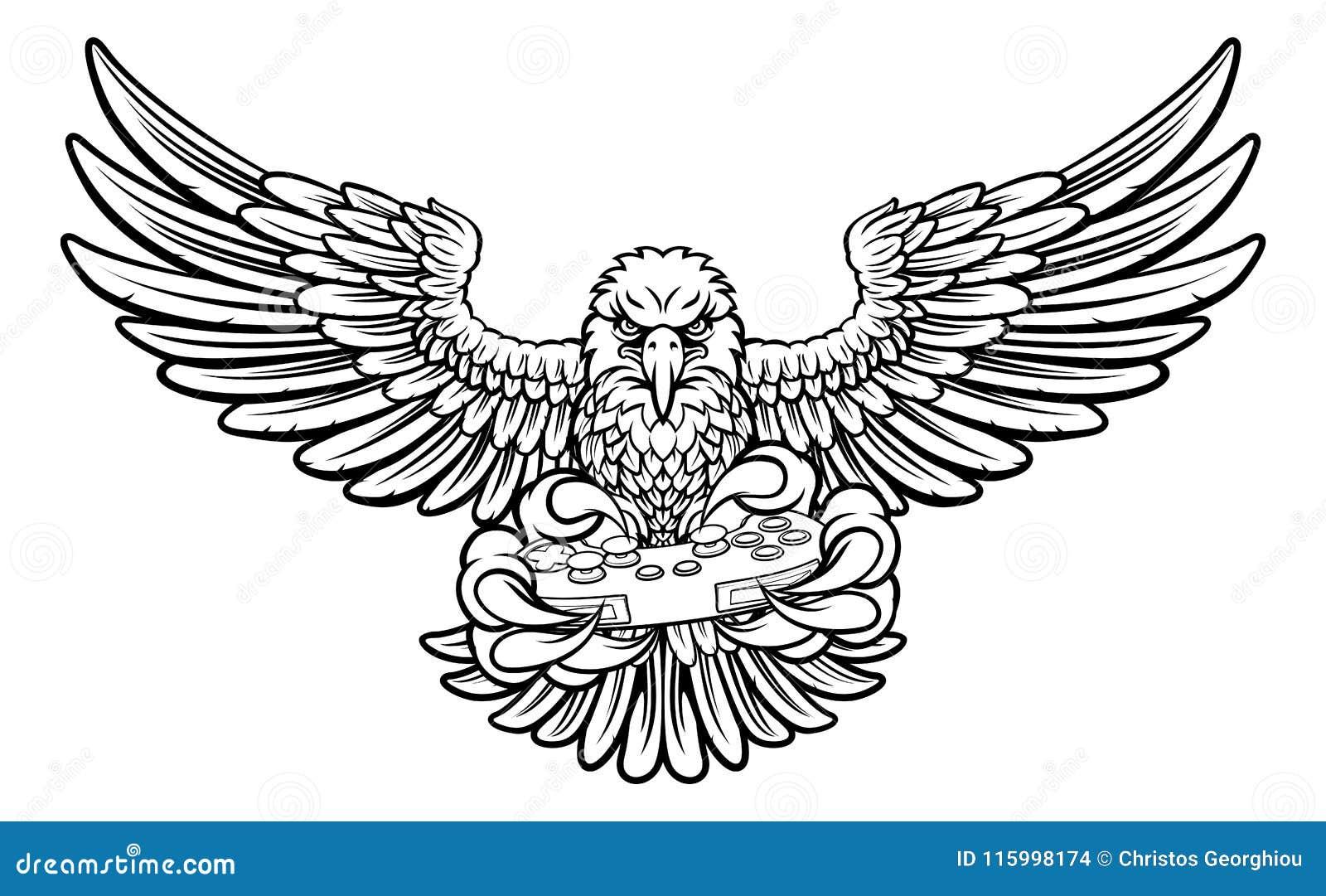 Download eagle esports sports gamer mascot illustration de vecteur illustration du contrôleur mascotte