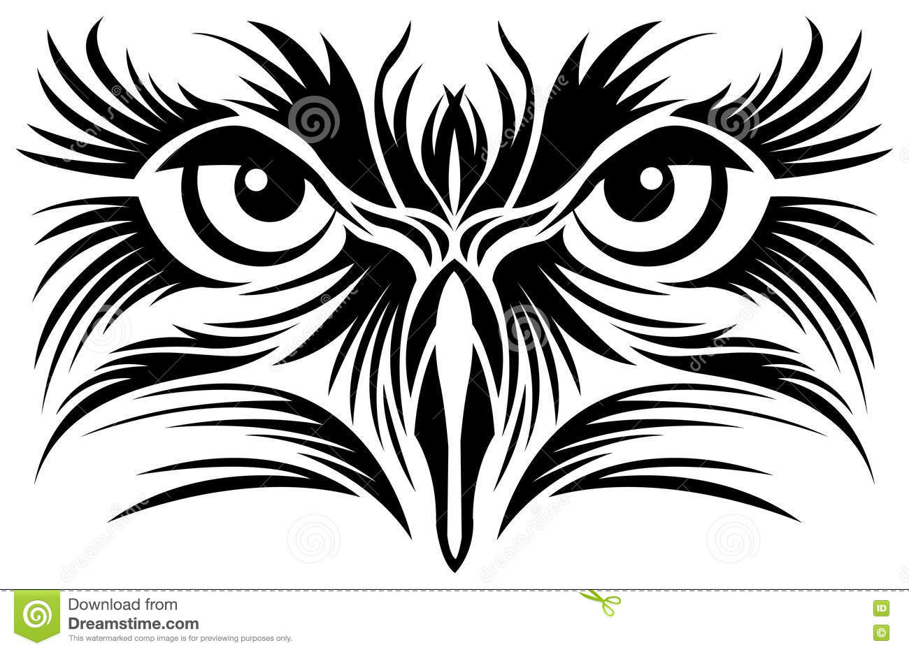 Line Art Design Free Download : Eagle eyes tattoo stock vector. illustration of printing 75036980