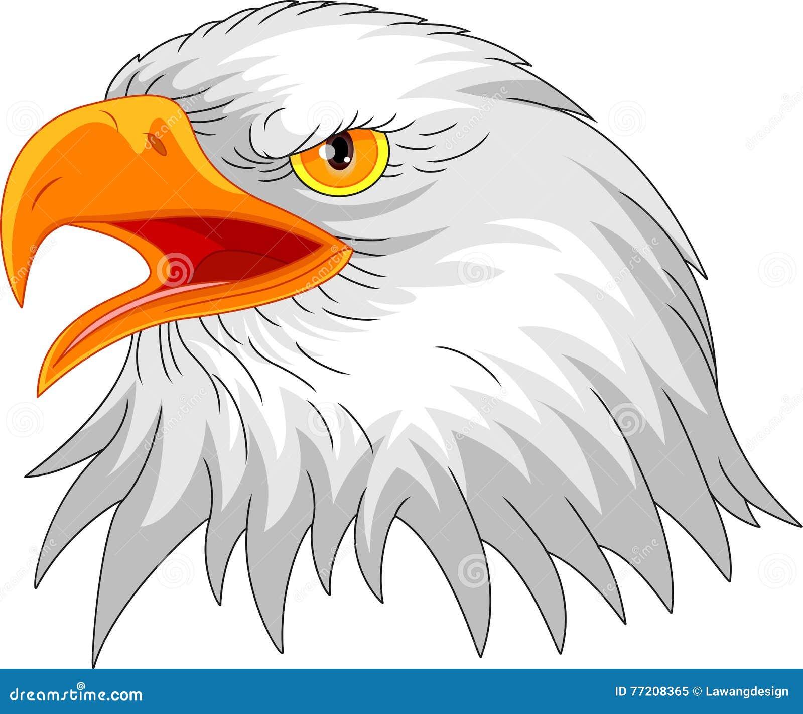Eagle głowy maskotka
