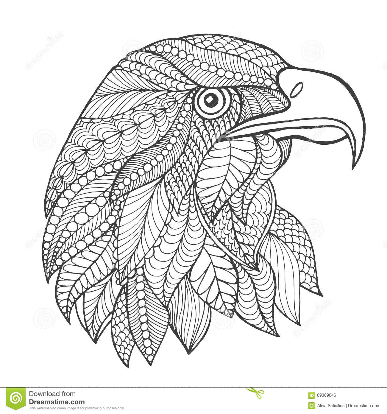 Eagle Mandala Coloring Pages Coloring Pages
