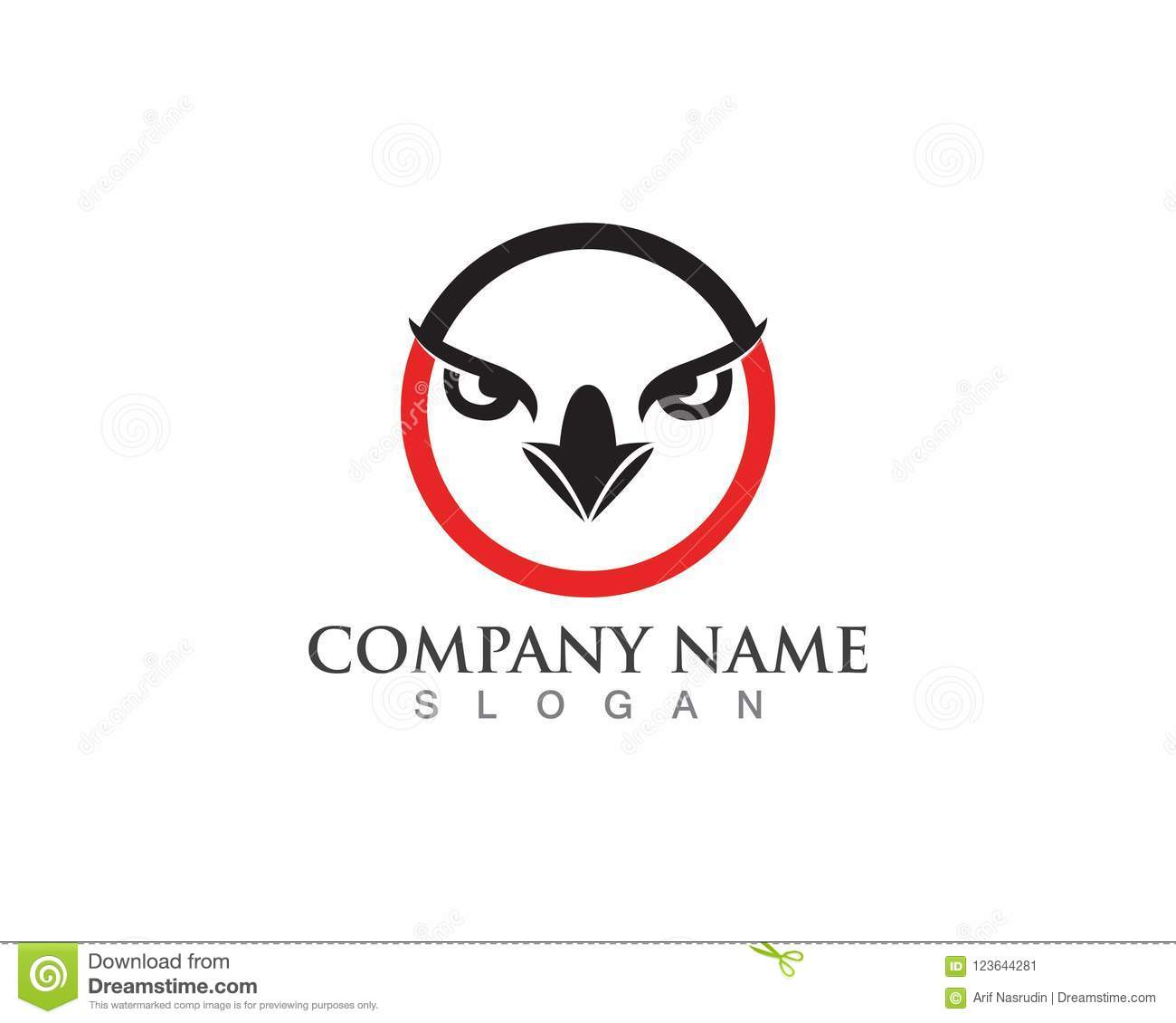 Eagle Head And Eye Vector Hummingbird Logo Template Stock