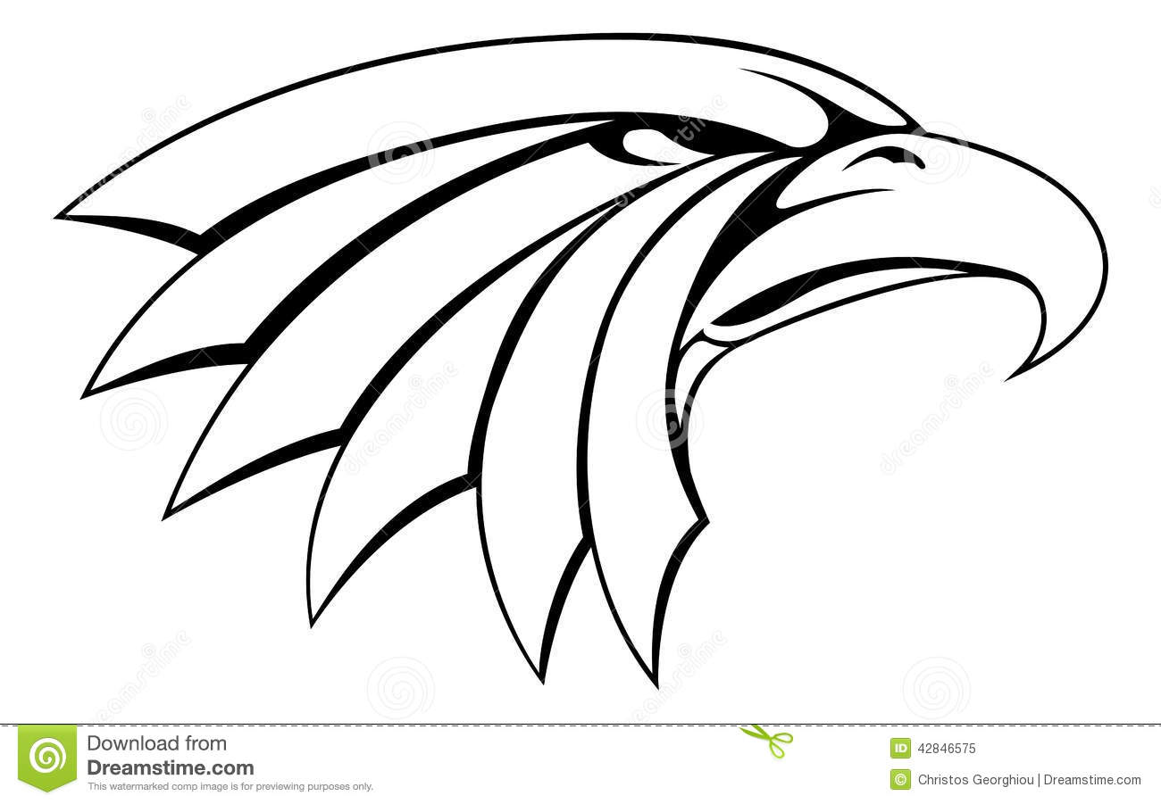 Eagle head illustration  Eagle Head Silhouette