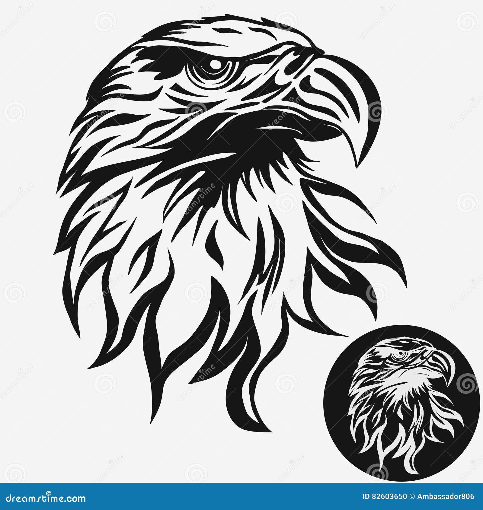 eagle head logo vector stock vector illustration of bald