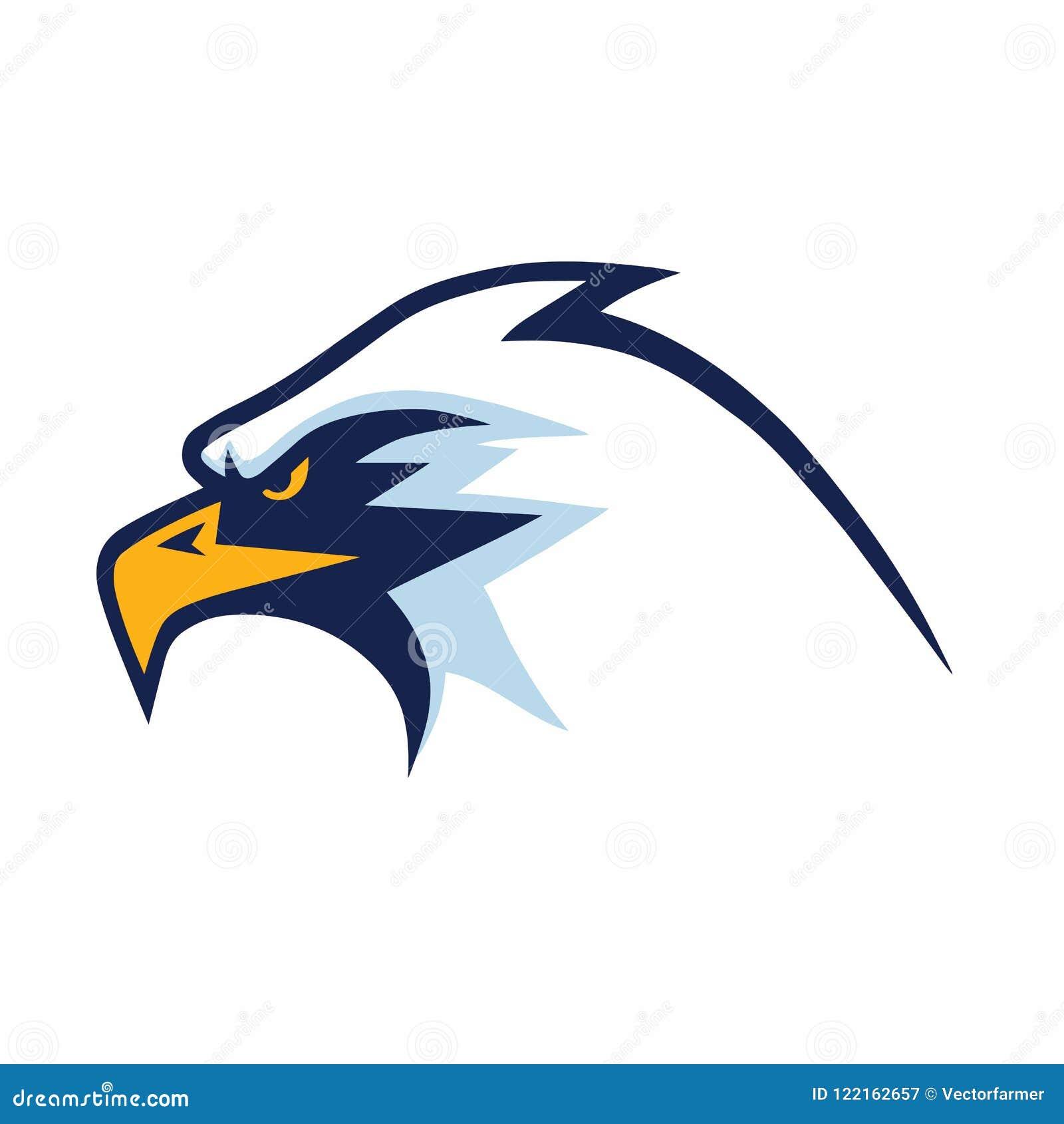 Eagle Head Mascot Sports Team Logo Template Stock Vector