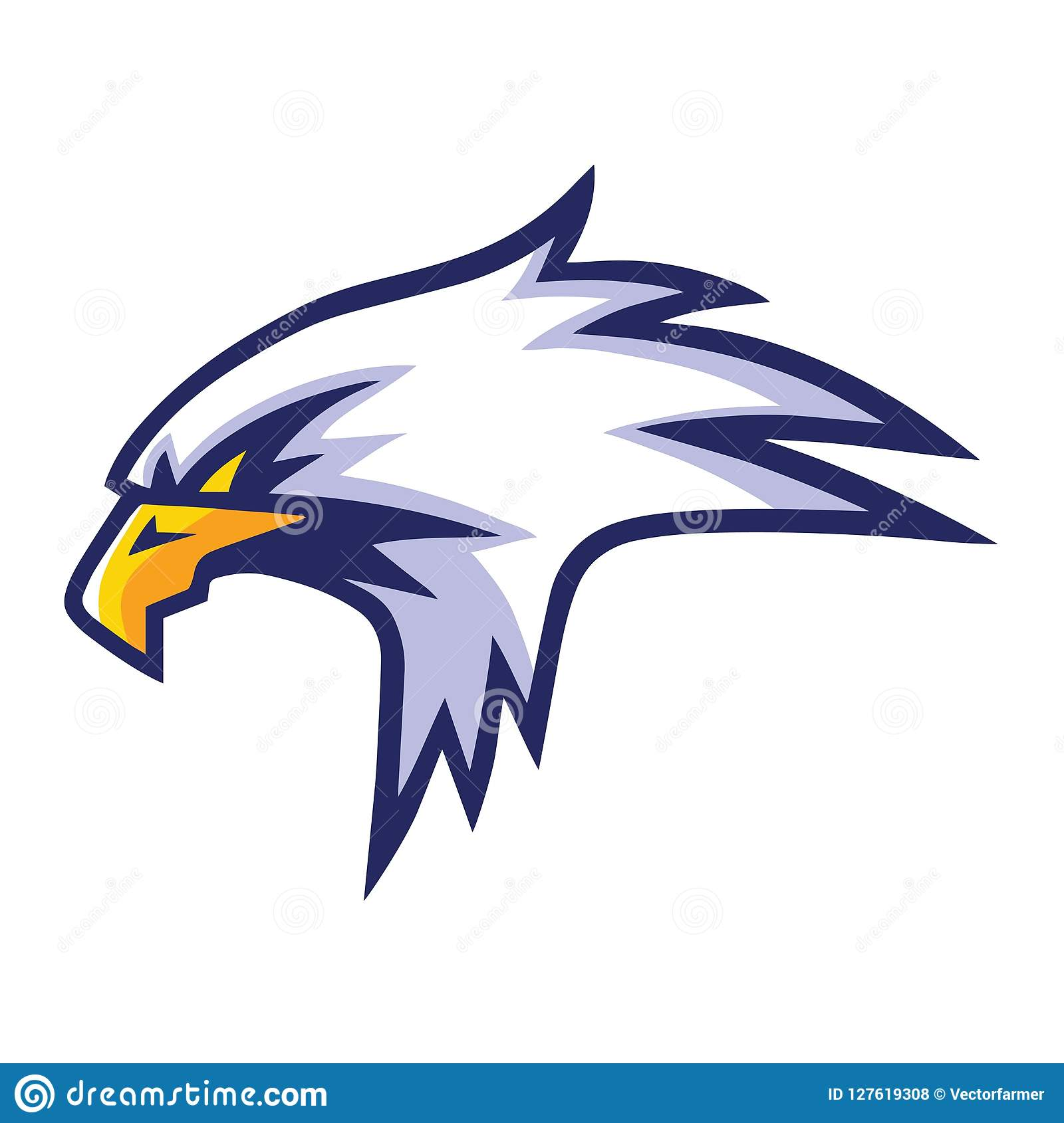Eagle Head Mascot Sports Team Logo Template Design Stock
