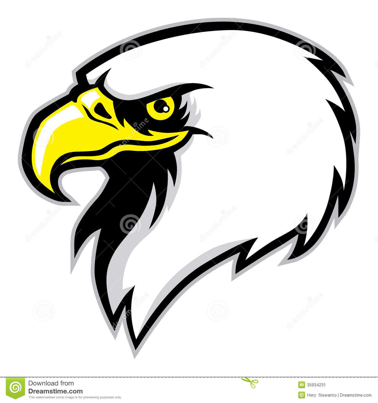 Eagle Head Mascot Stock Image - Image: 35934231