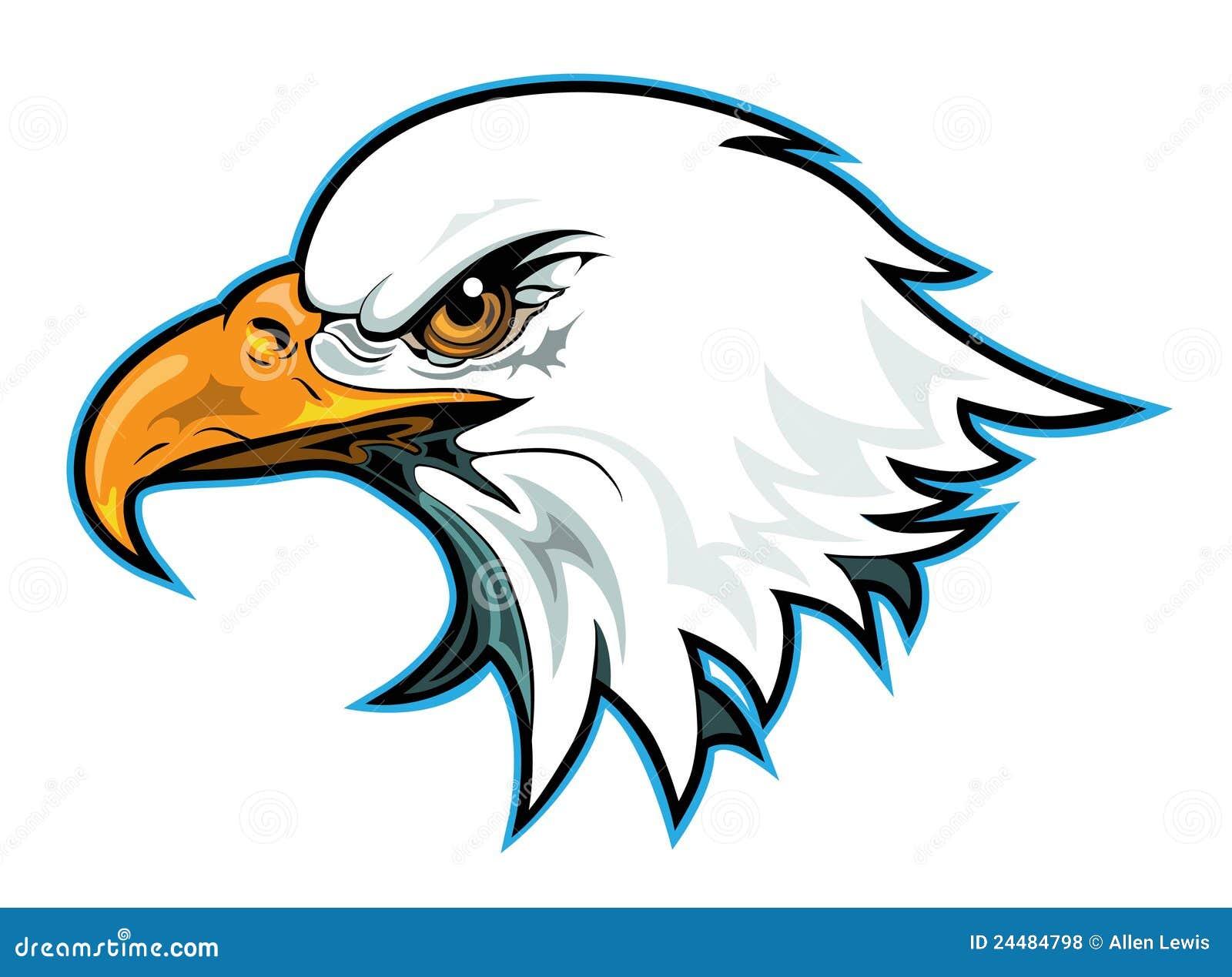 Рисованная голова орла