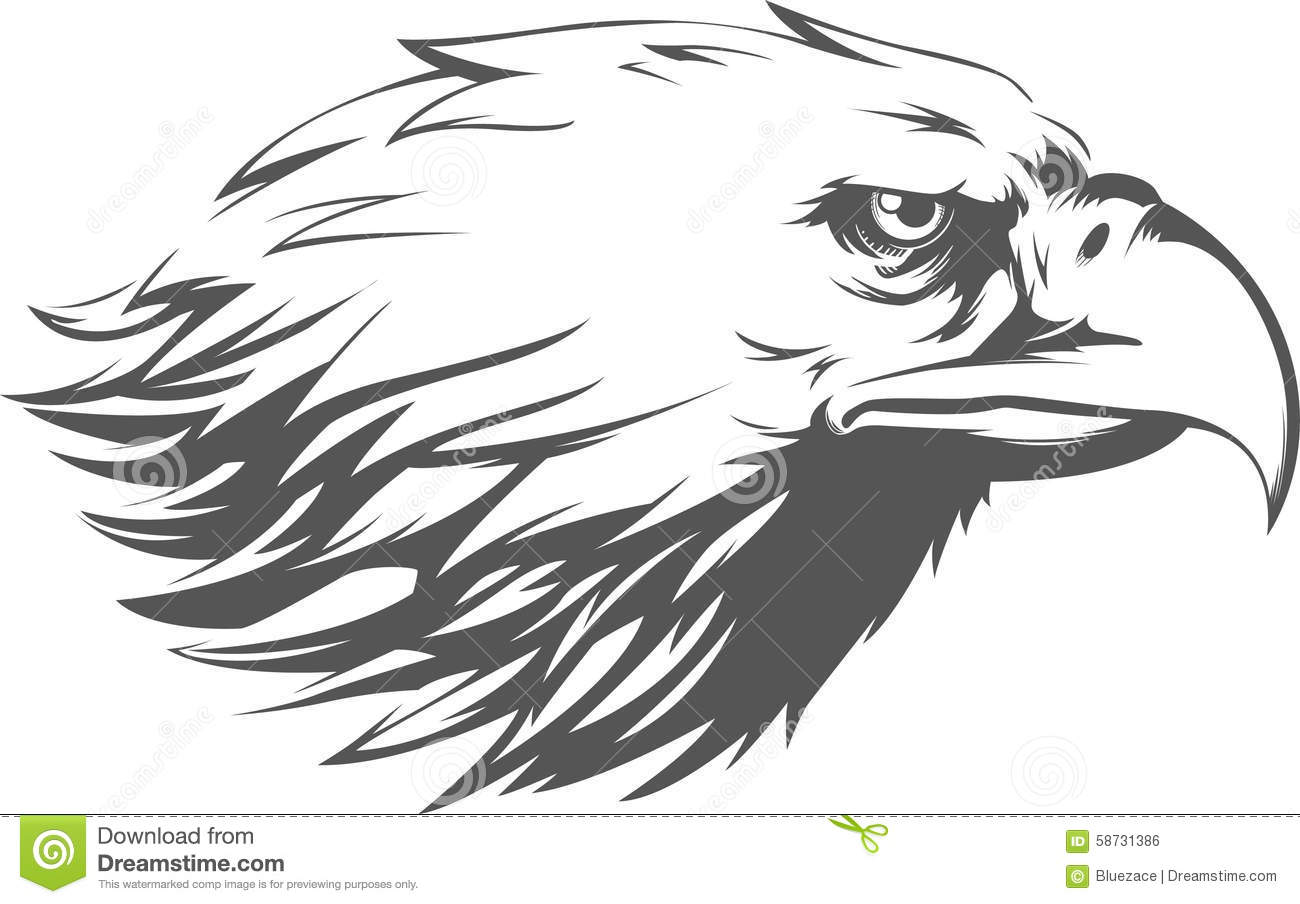 Eagle Head Vector - Side View Silhouette Stock Vector ...