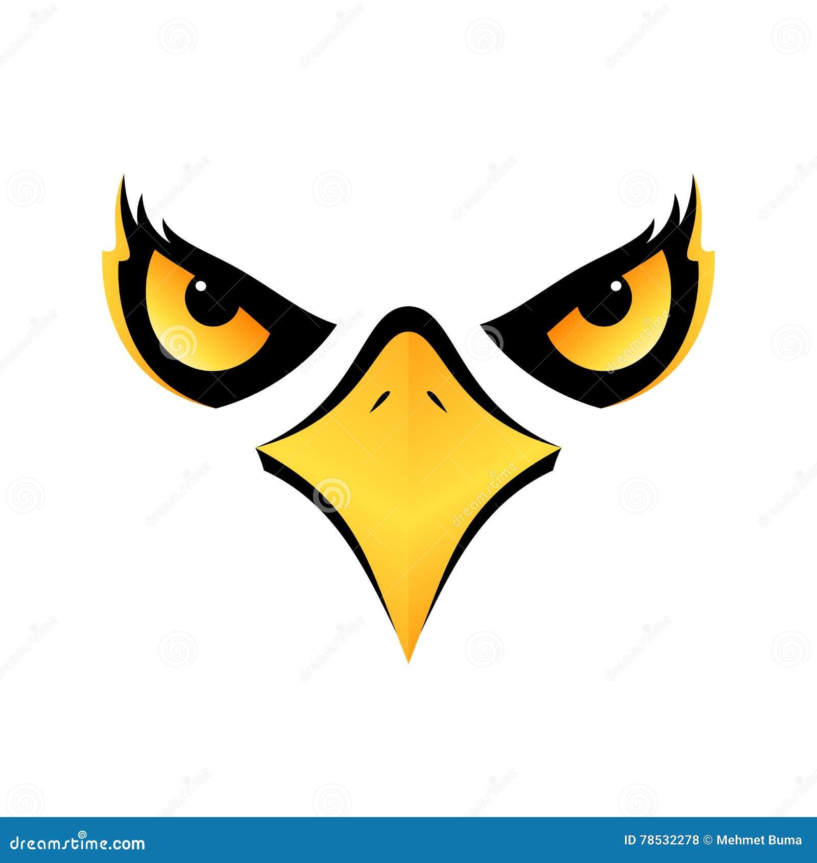 Eagle-hoofd op wit pictogram als achtergrond eps10