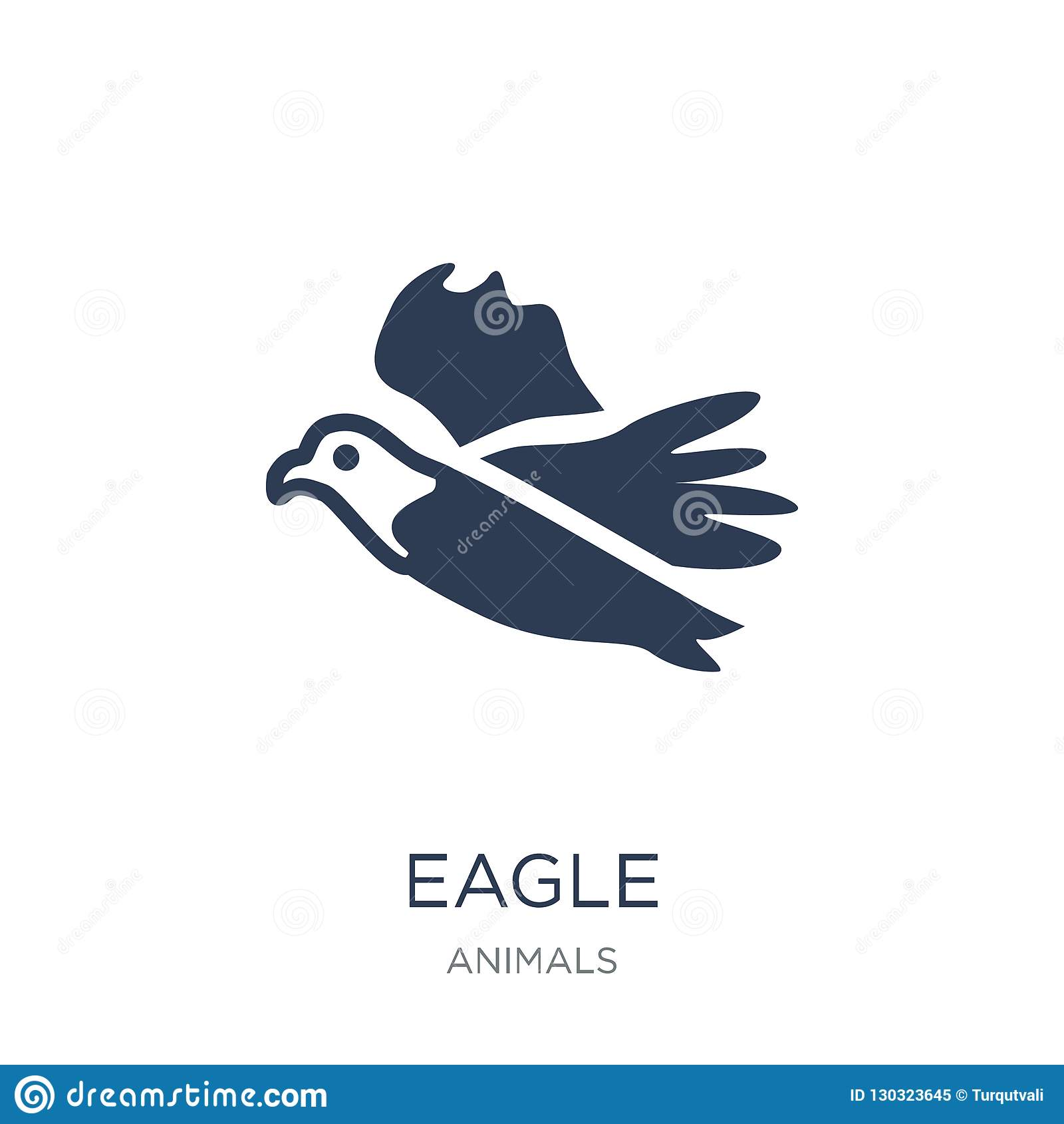 Eagle Icon Ícone liso na moda de Eagle do vetor no fundo branco franco