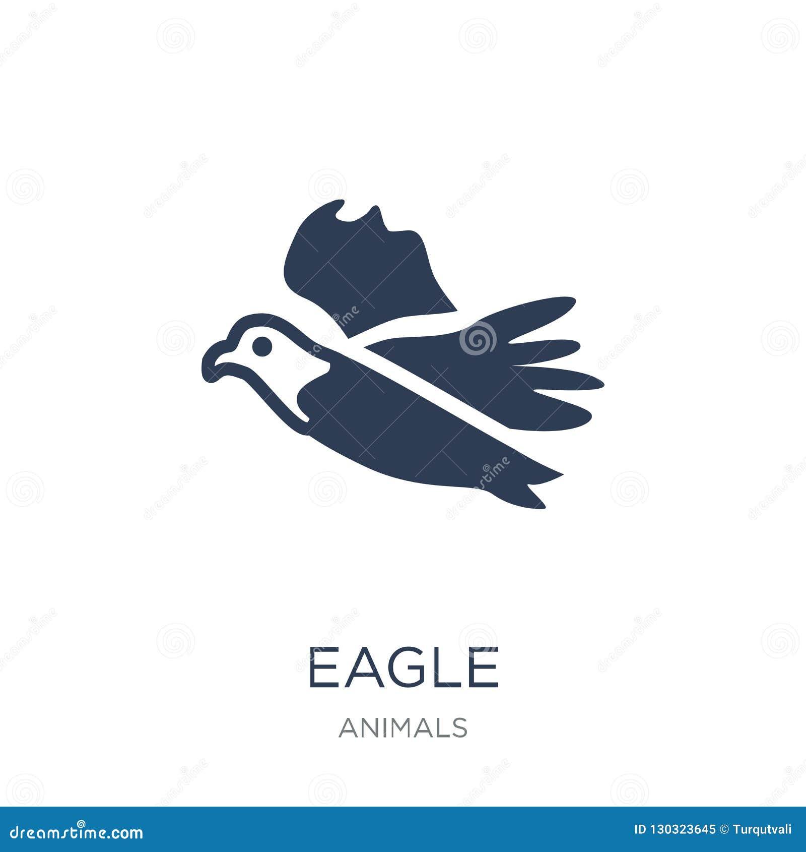 Eagle Icon In vlak vectoreagle-pictogram op witte achtergrond Fr