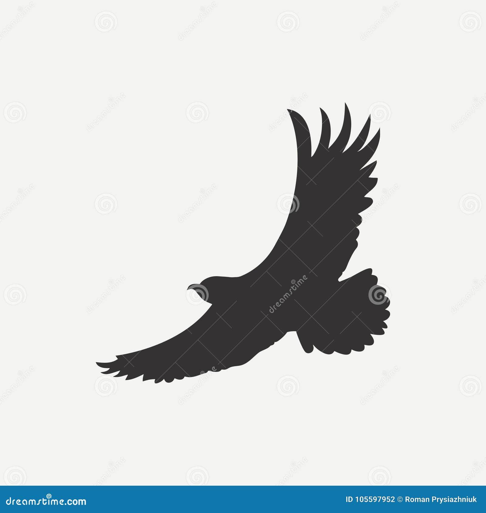 Eagle Ikona Loga Szablon Ptak Drapieżnik Wektor Ilustracja Wektor