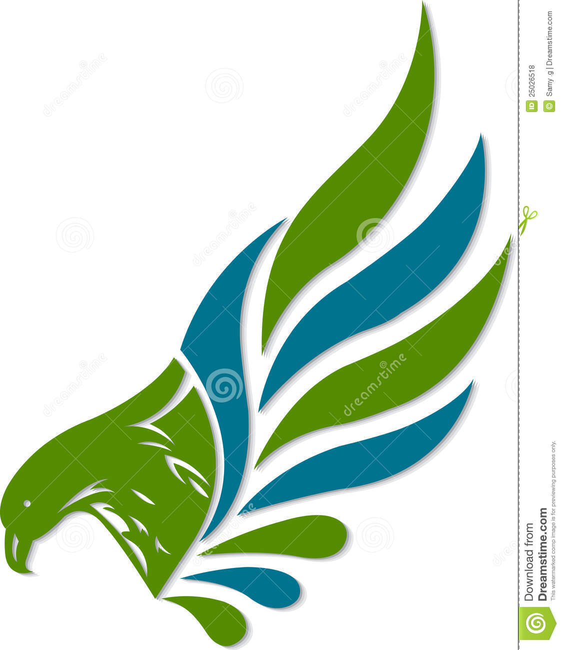 eagle logo stock vector image of artistic color graphic