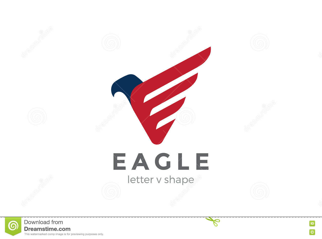 eagle logo abstract design vector falcon hawk bird stock
