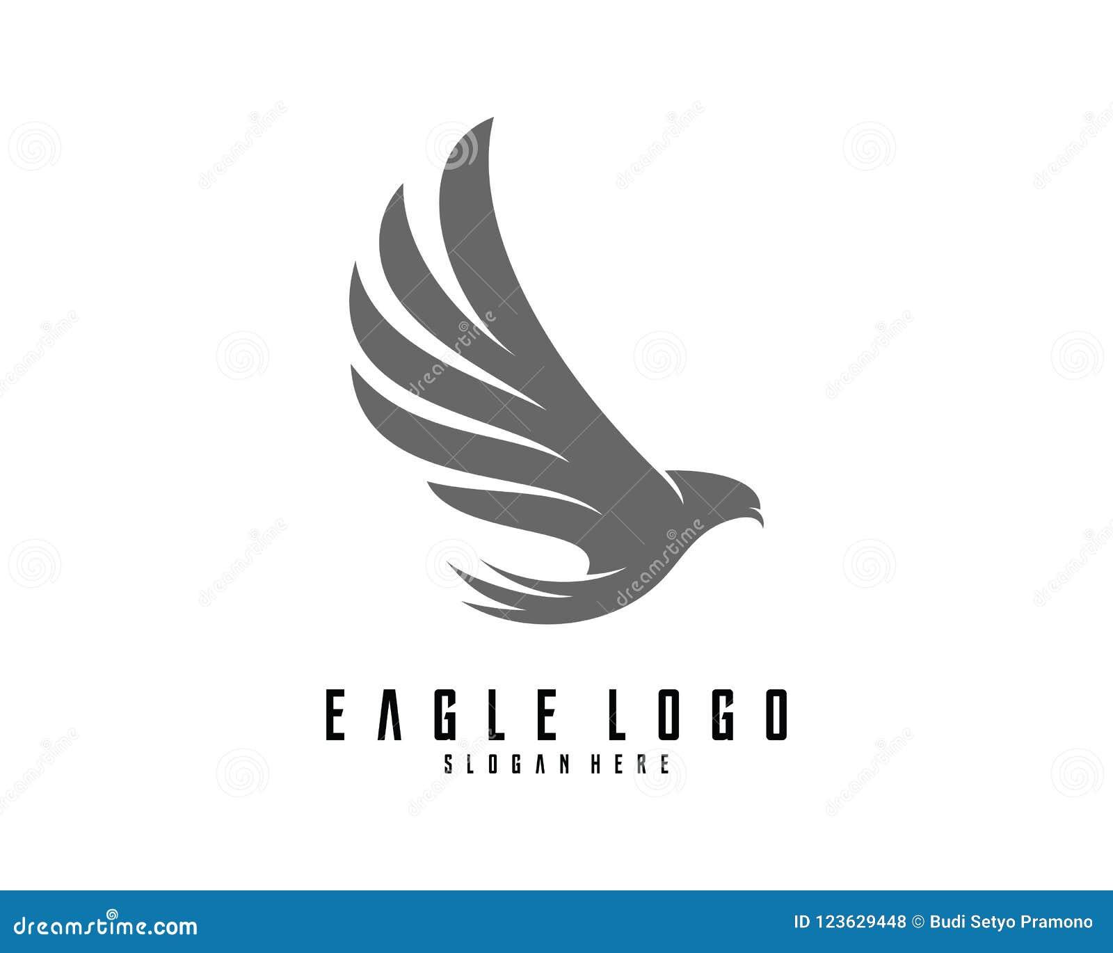 eagle logo design vector eagle icon logo stock vector