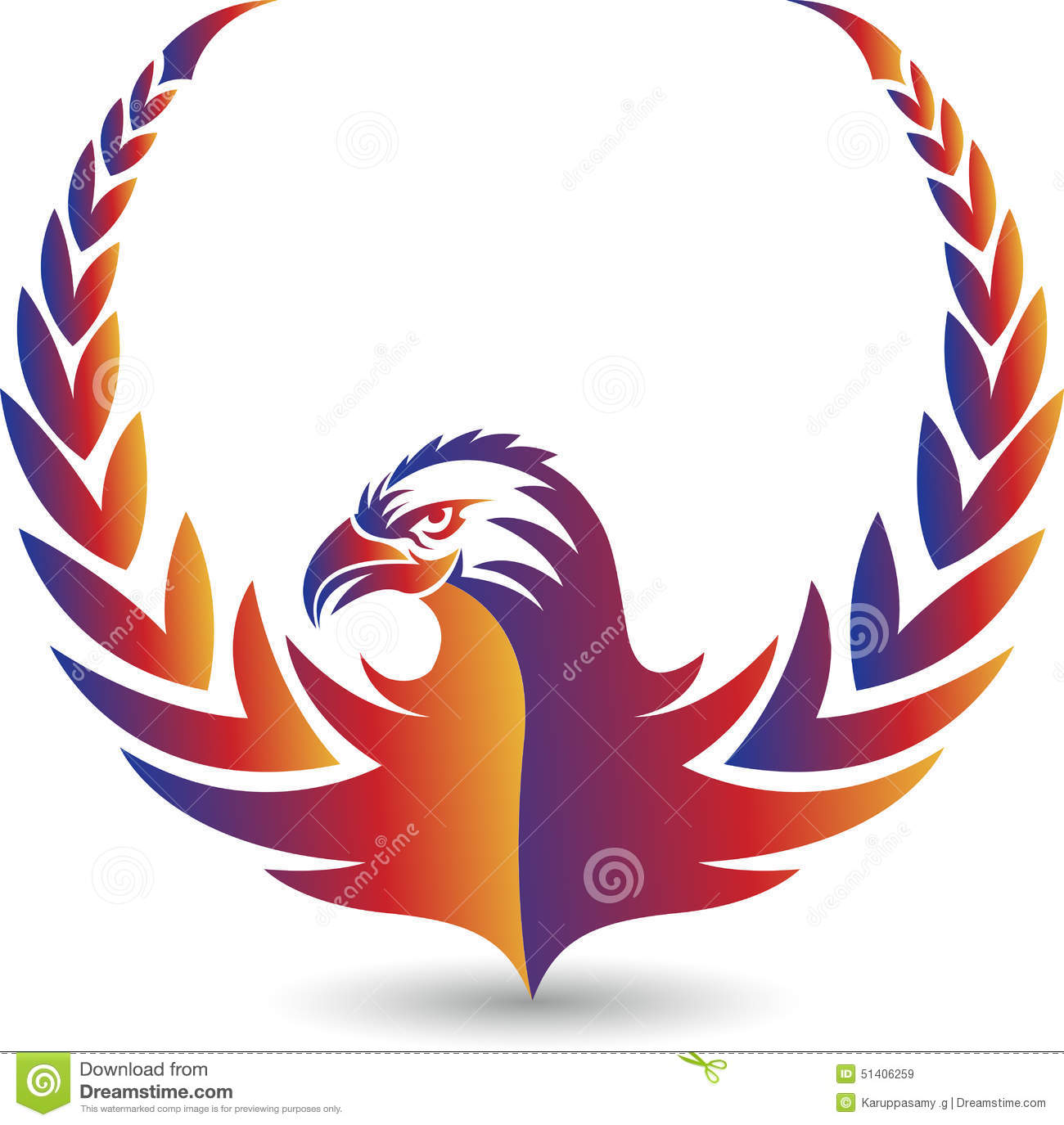 eagle logo stock vector illustration of abstract design