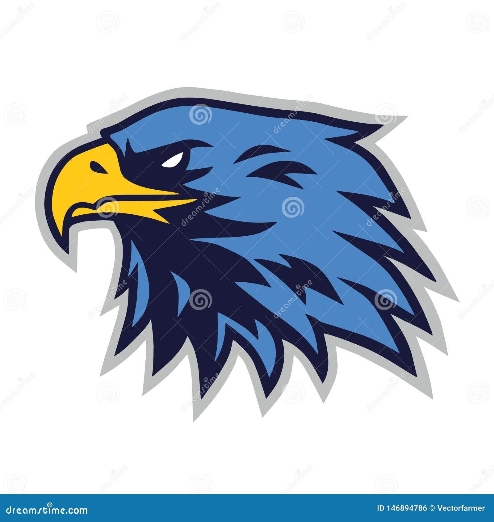 Eagle Logo Mascot Vector Cartoon Template