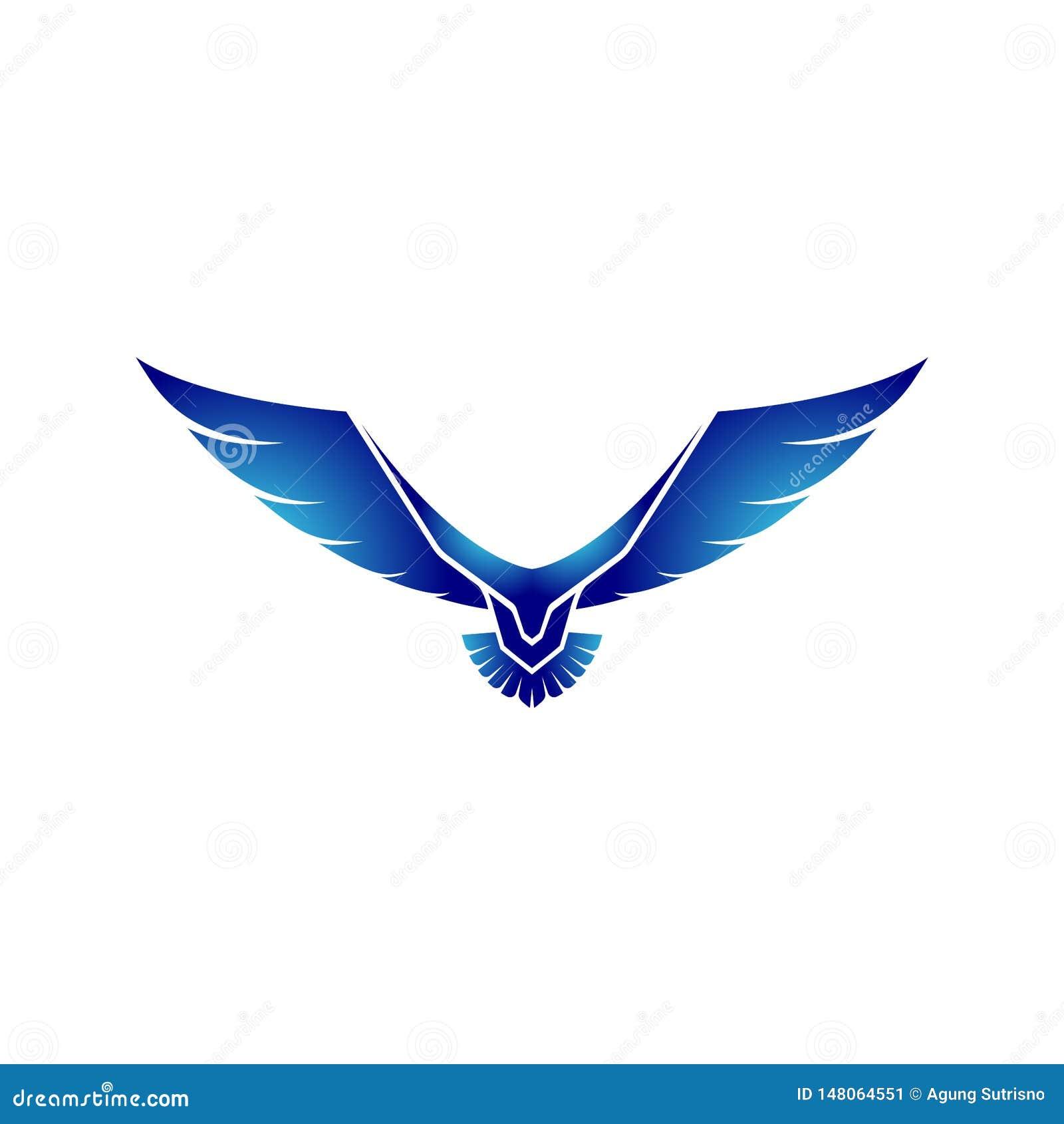 Eagle logo med framtida teknologibegrepp - vektor
